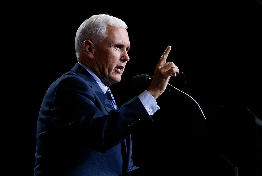 Mike Pence on Aug. 31, 2016 in Phoenix, Arizona.