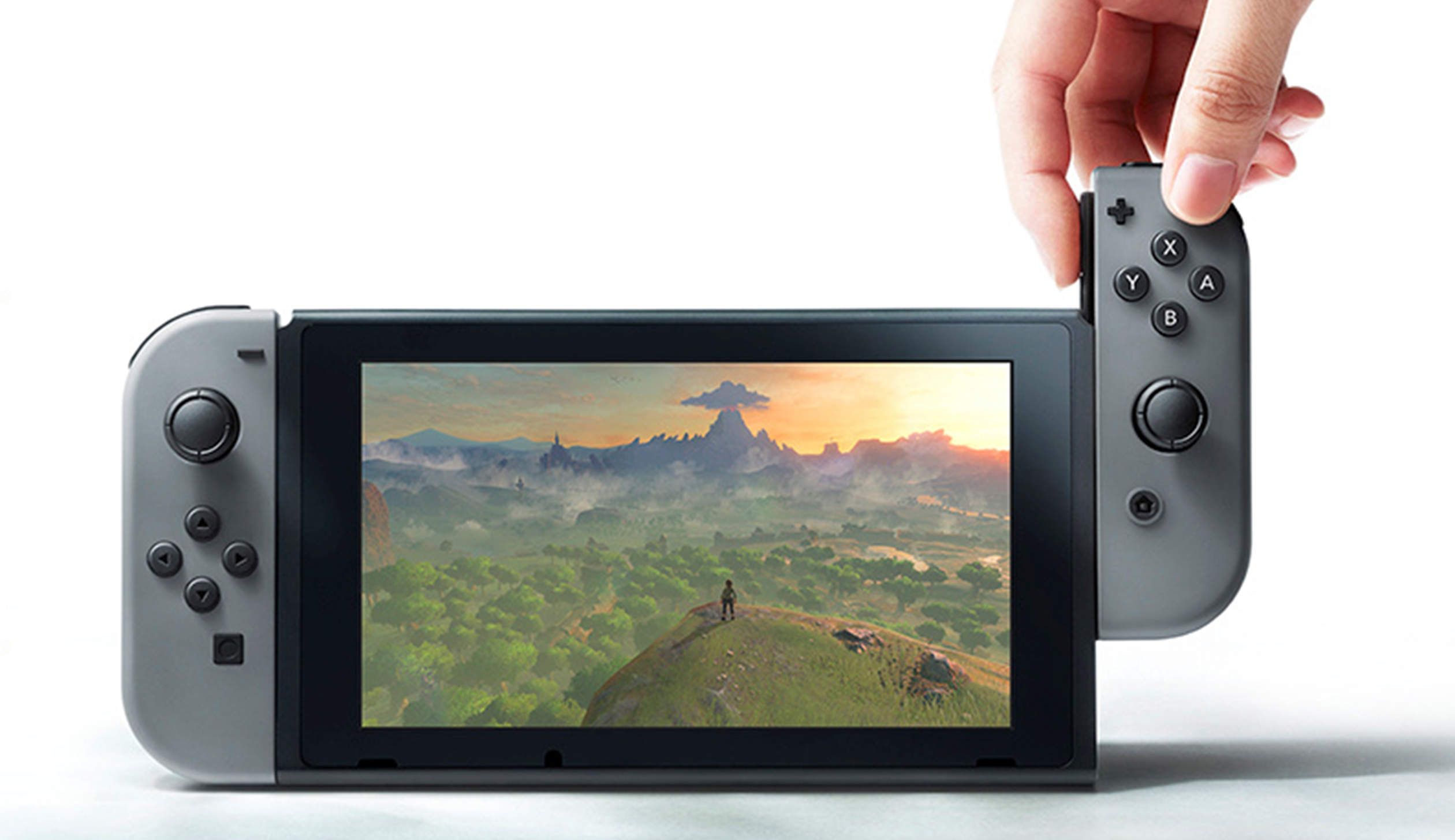 Undated handout image shows the Nintendo Switch, a new gaming device