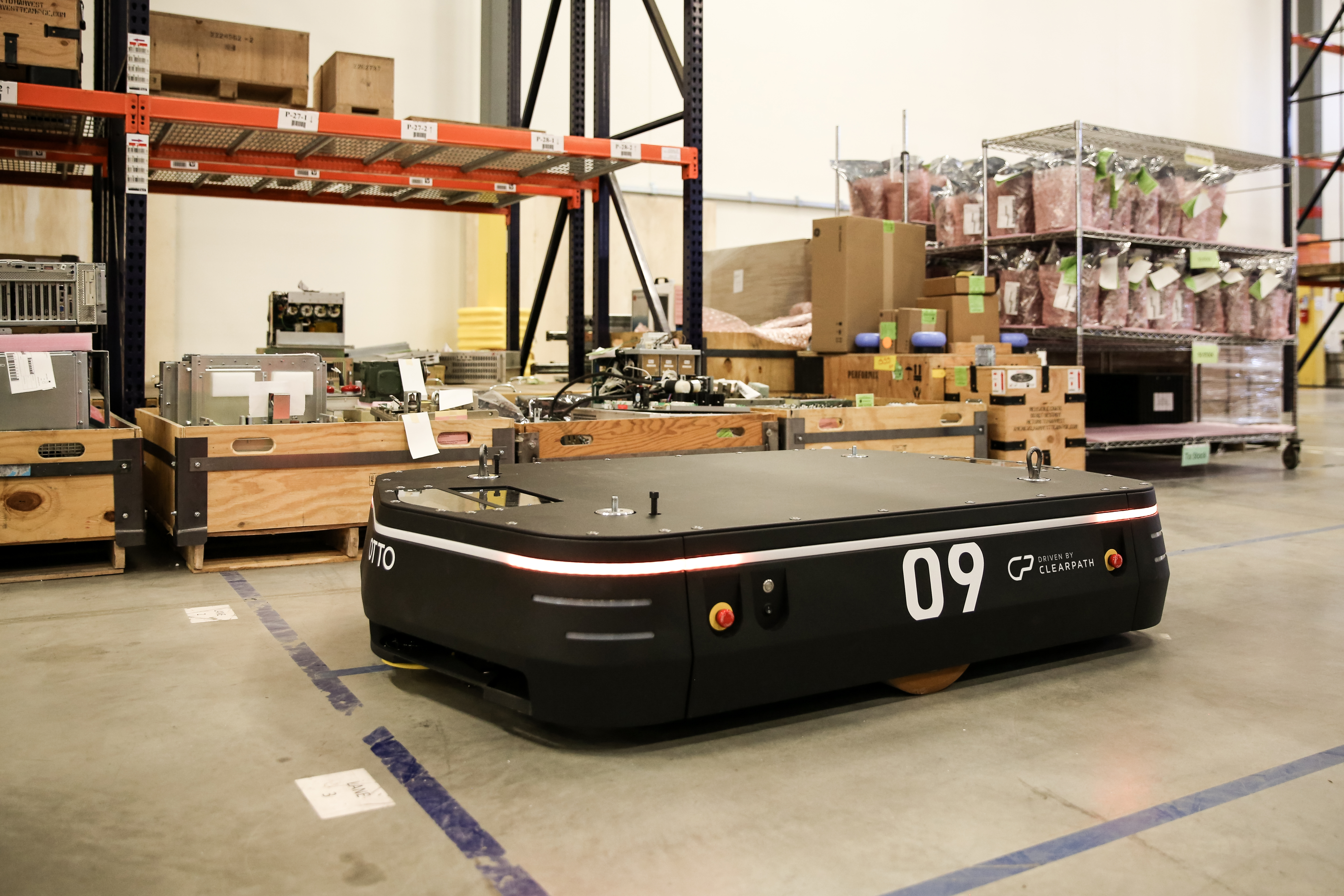 OTTO Motors, an industrial division of Clearpath Robotics, builds self-driving vehicles used in factories.