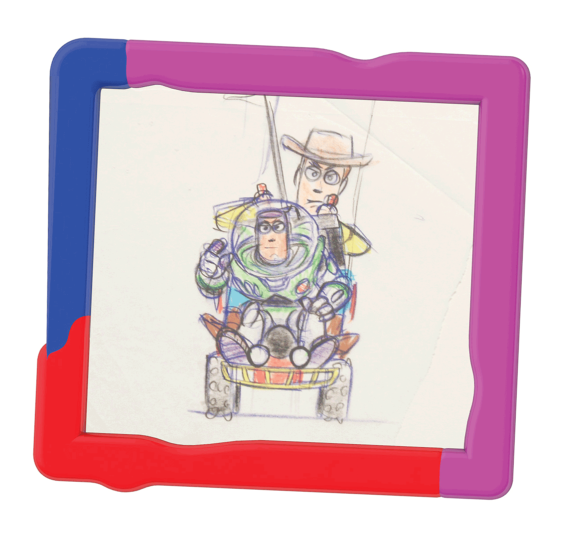 Sketch from 'Toy Story' shown at a '20th Anniversary of Disney Pixar Animation' exhibition, at The Science Museum in London in 2006.