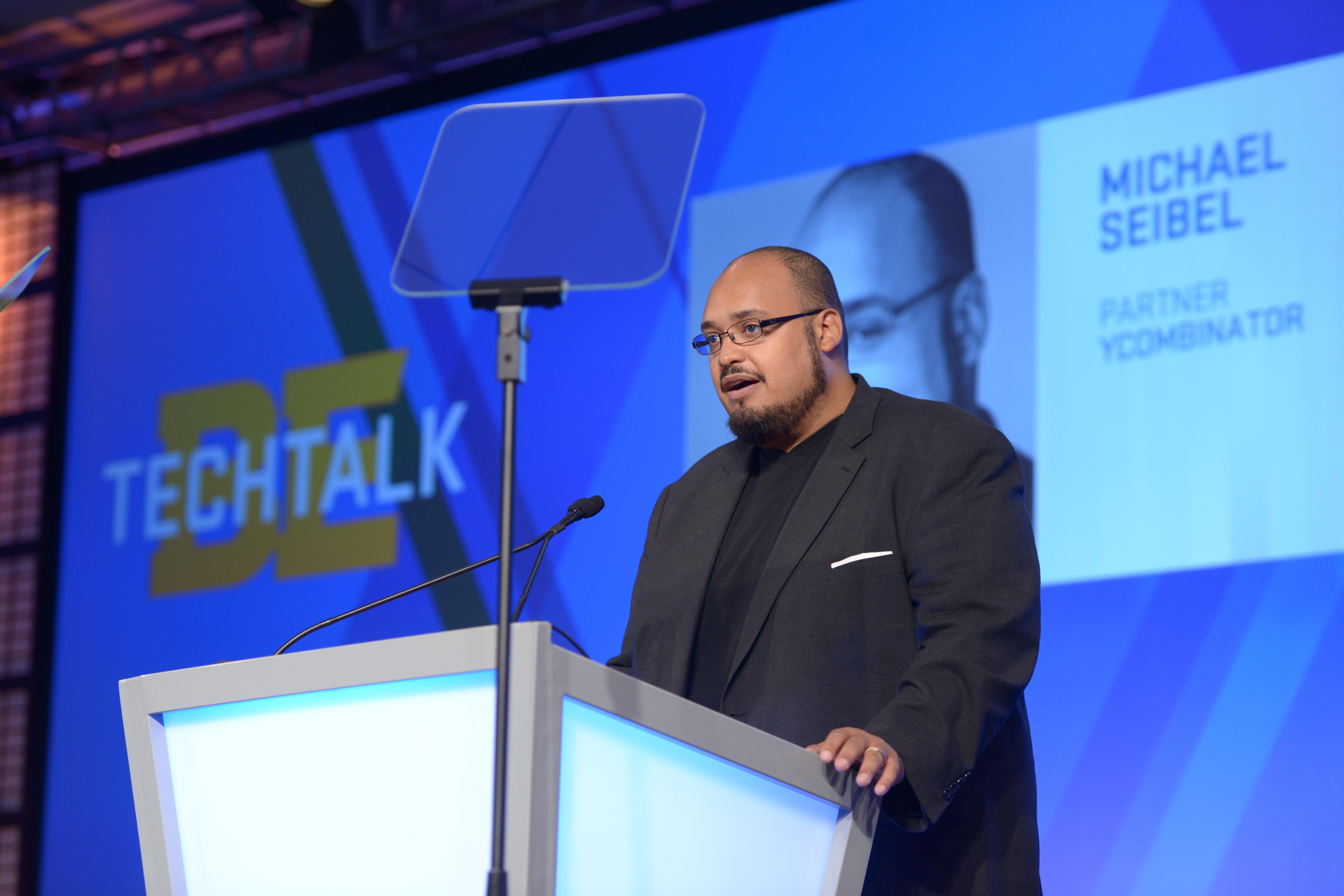 Michael Seibel giving his speech at 2016 Black Enterprise TechConneXt Summit.