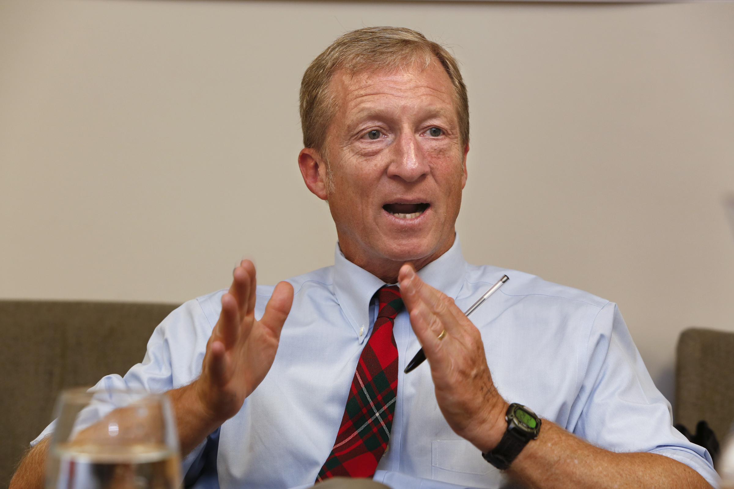 LOS ANGELES, CA.-JULY 29, 2014: President of NextGen Climate Tom Steyer  visits LAC and USC Medical