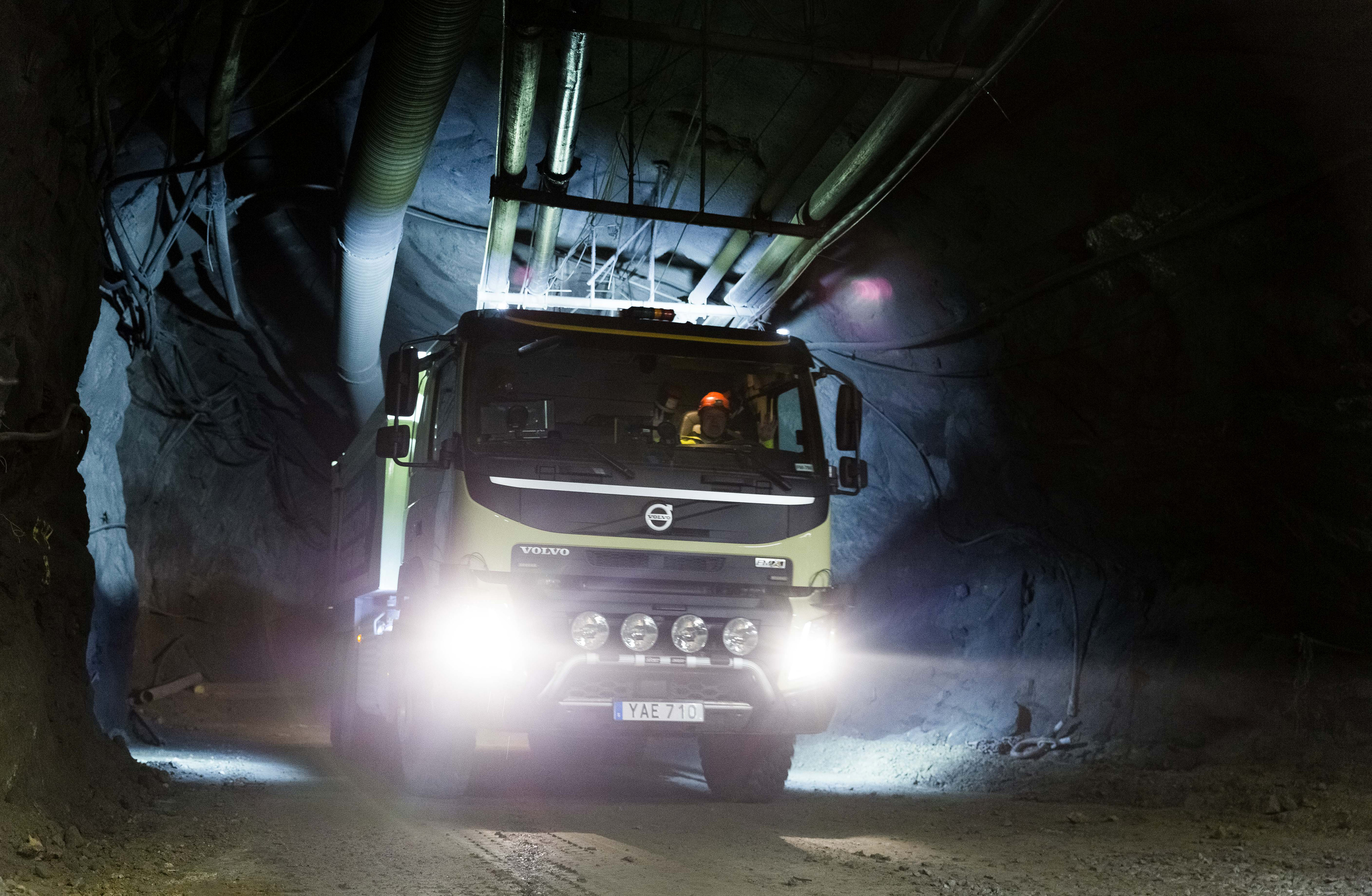 Volvo Group Test Autonomous FMX Truck At Boliden Mine