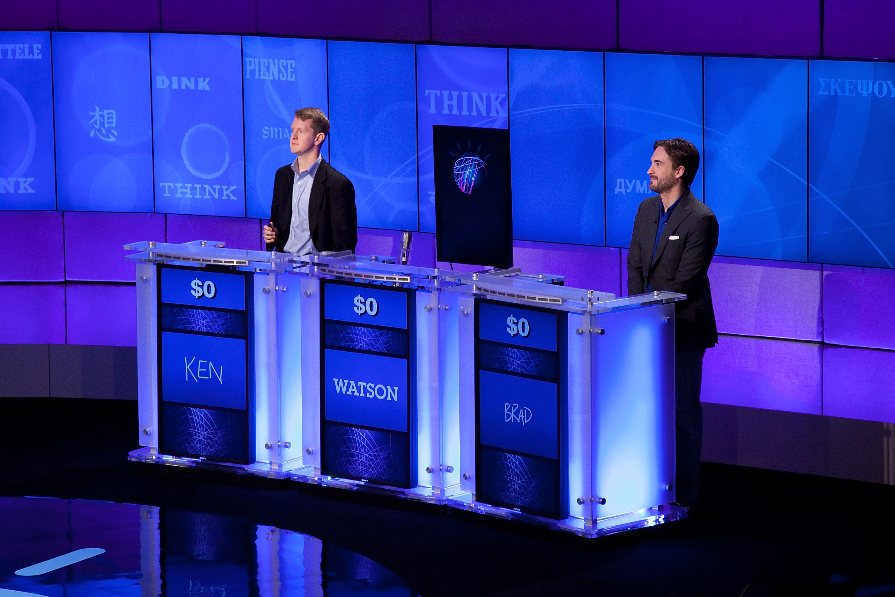 """Jeopardy!"" & IBM Man V. Machine Press Conference"