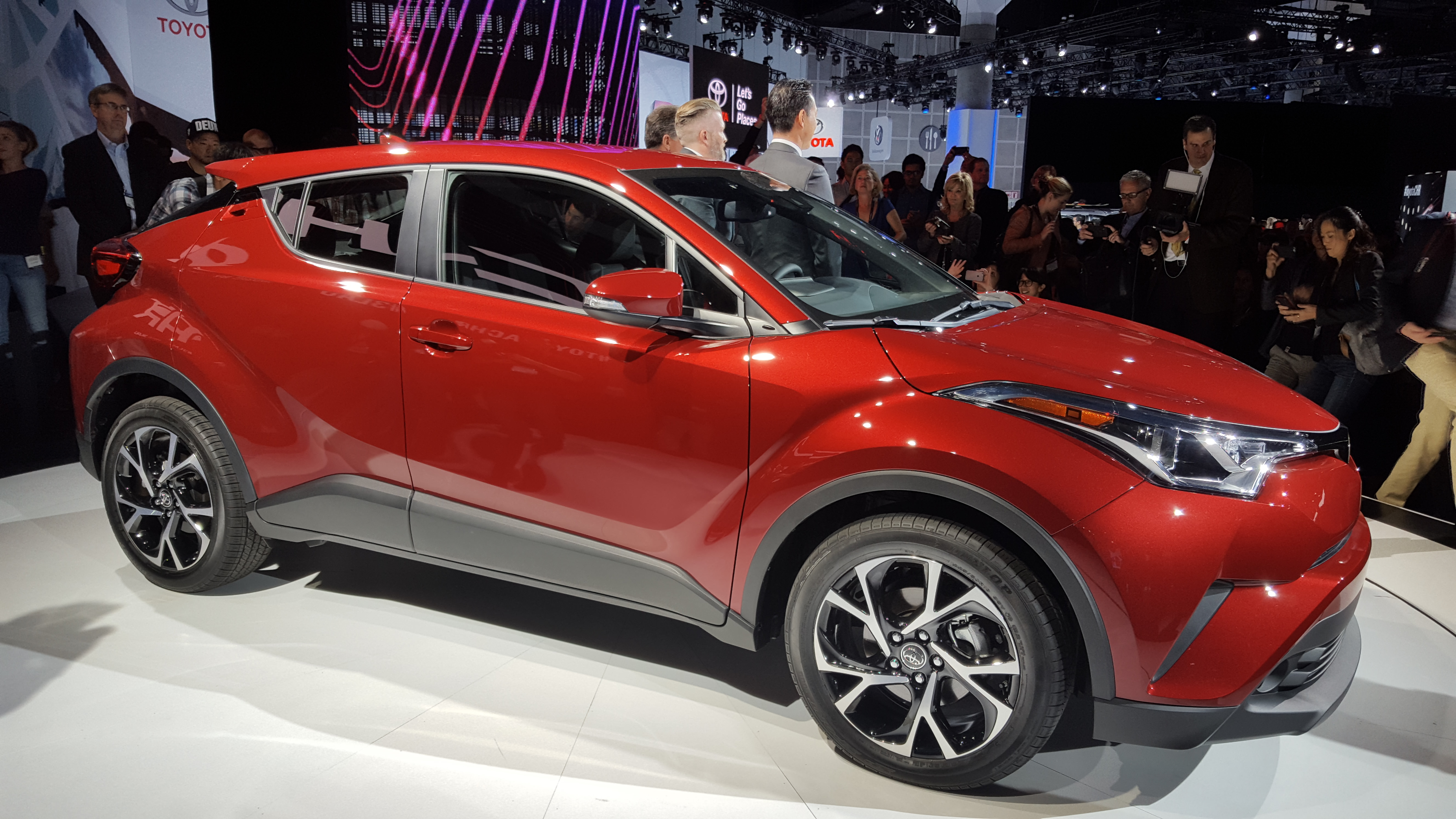 The Toyota C-HR was unveiled Thursday, Nov. 17, 2016 at the LA Auto Show.