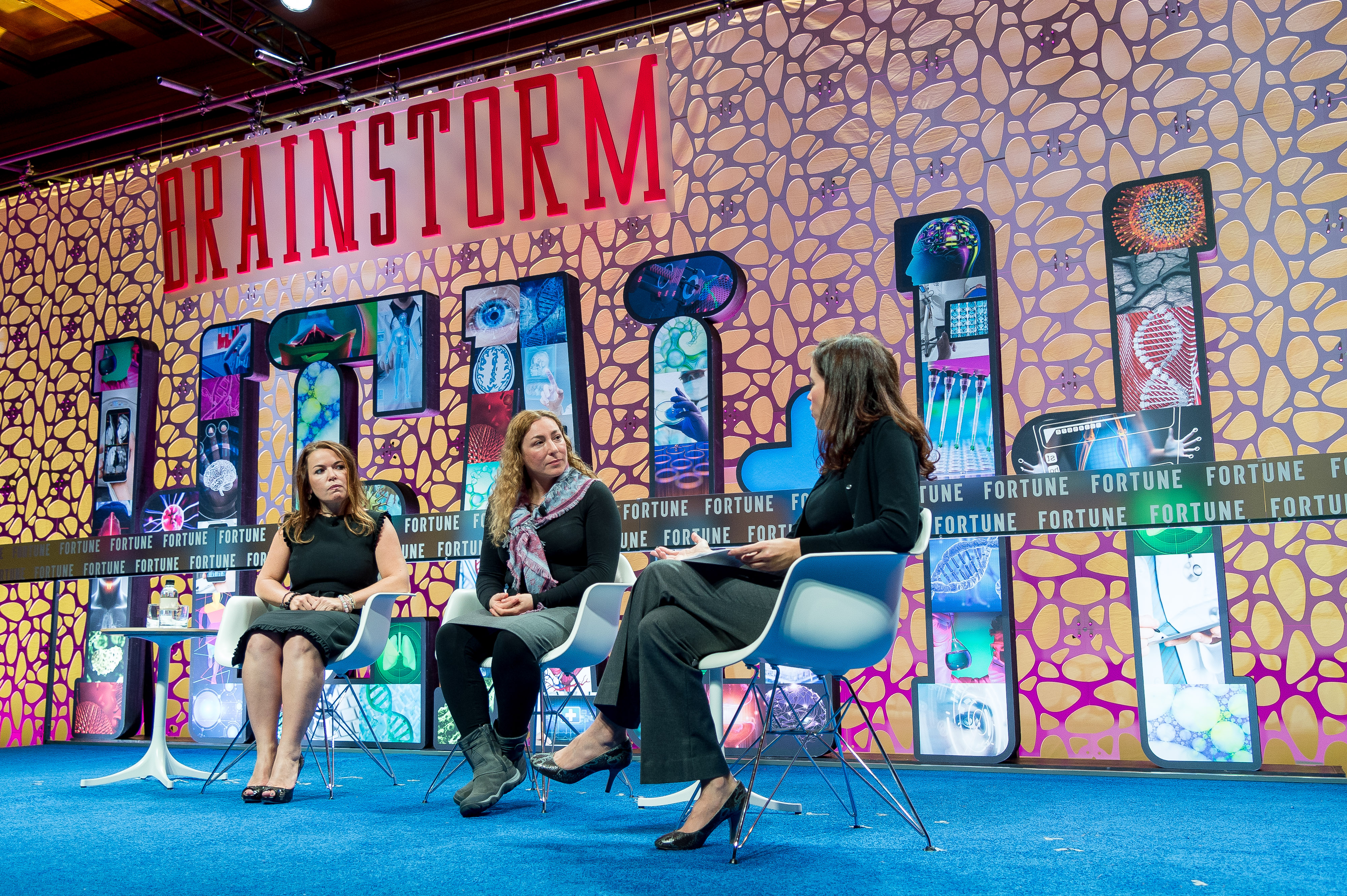 Lifeway Foods' Julie Smolyansky,  uBiome's Jessica Richman, and Fortune's Michal Lev-Ram at Fortune Brainstorm Health.