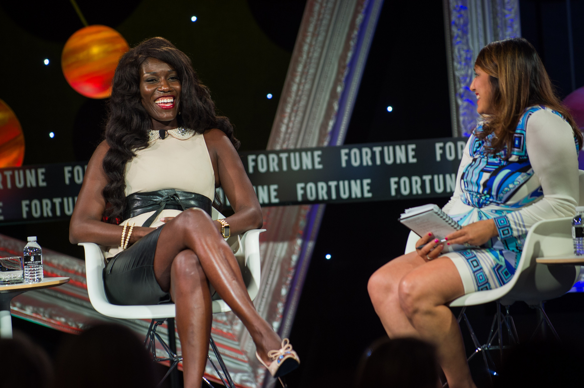 Apple's Bozoma Saint John (left) with Fortune's Leena Rao at the Next Gen 2016 conference in Laguna Nigel, Calif.