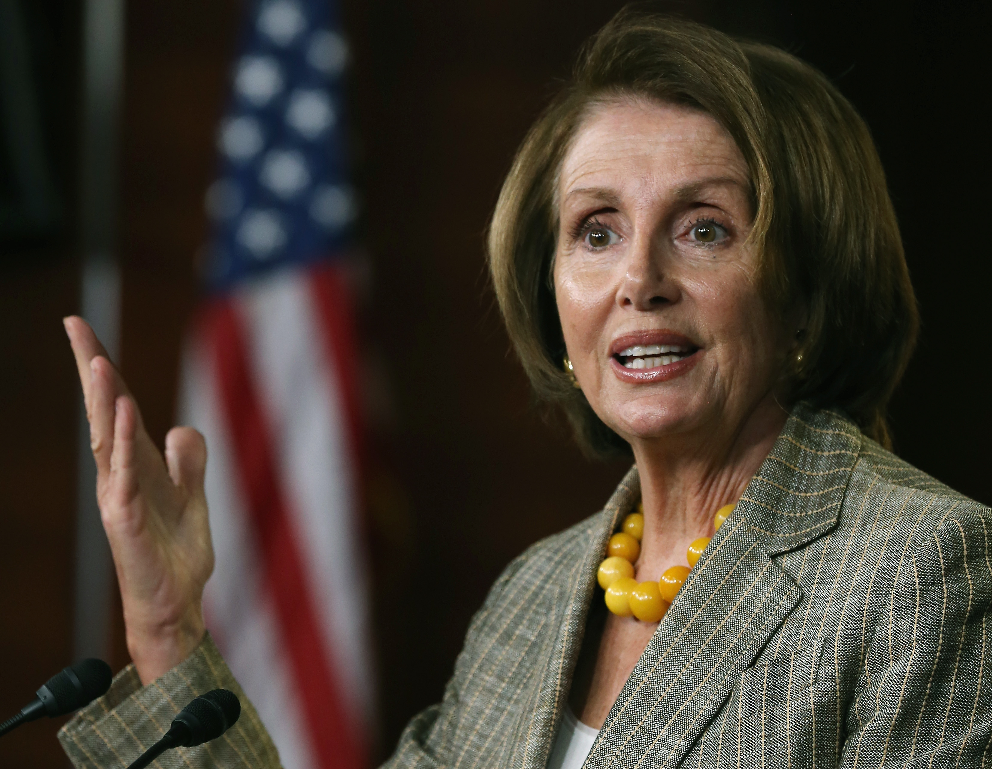Nancy Pelosi speaks at the U.S. Capitol October 1, 2014 in Washington, D.C.