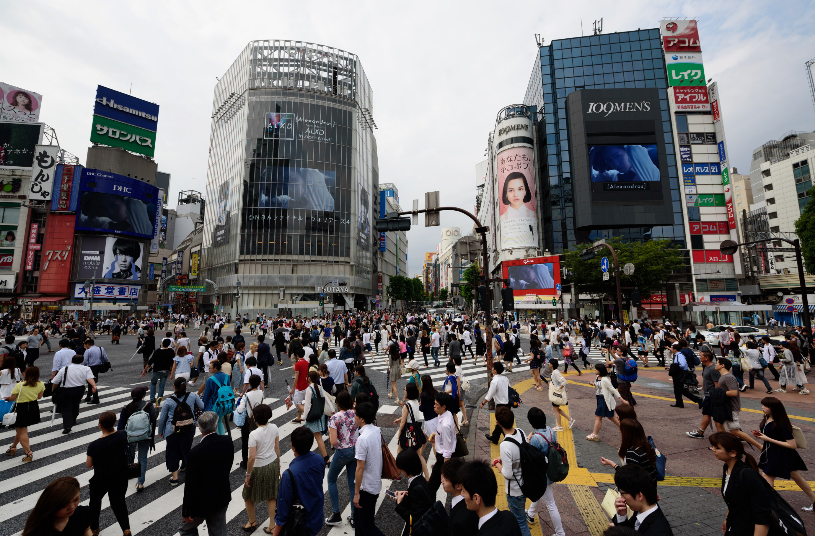Pedestrians And Shoppers At Shibuya Crossing As Bank Of Japan Holds Monetory Policy Meeting