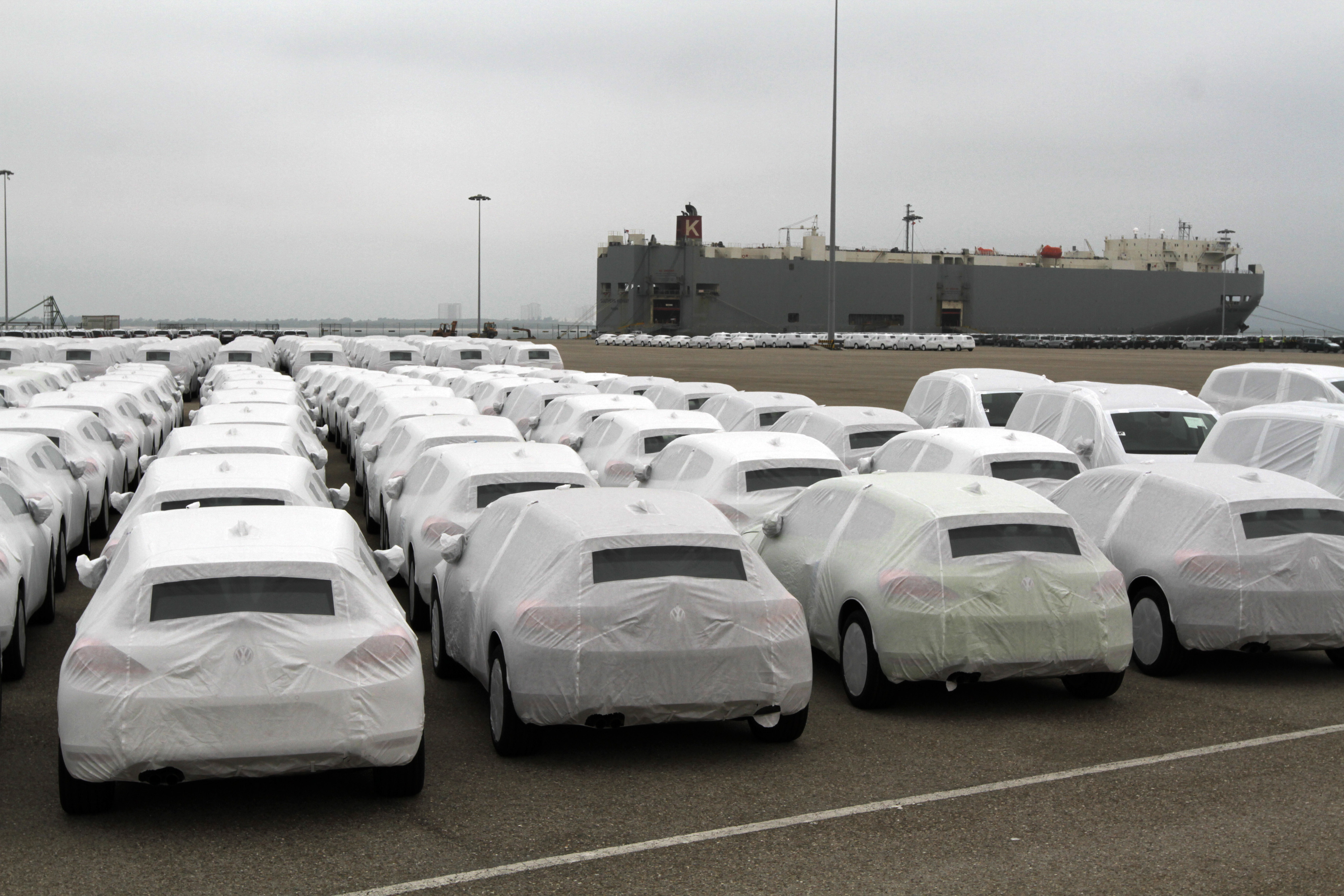 Volkswagen AG Automobile Manufacture And Shipping Operations As European Car Production Grows