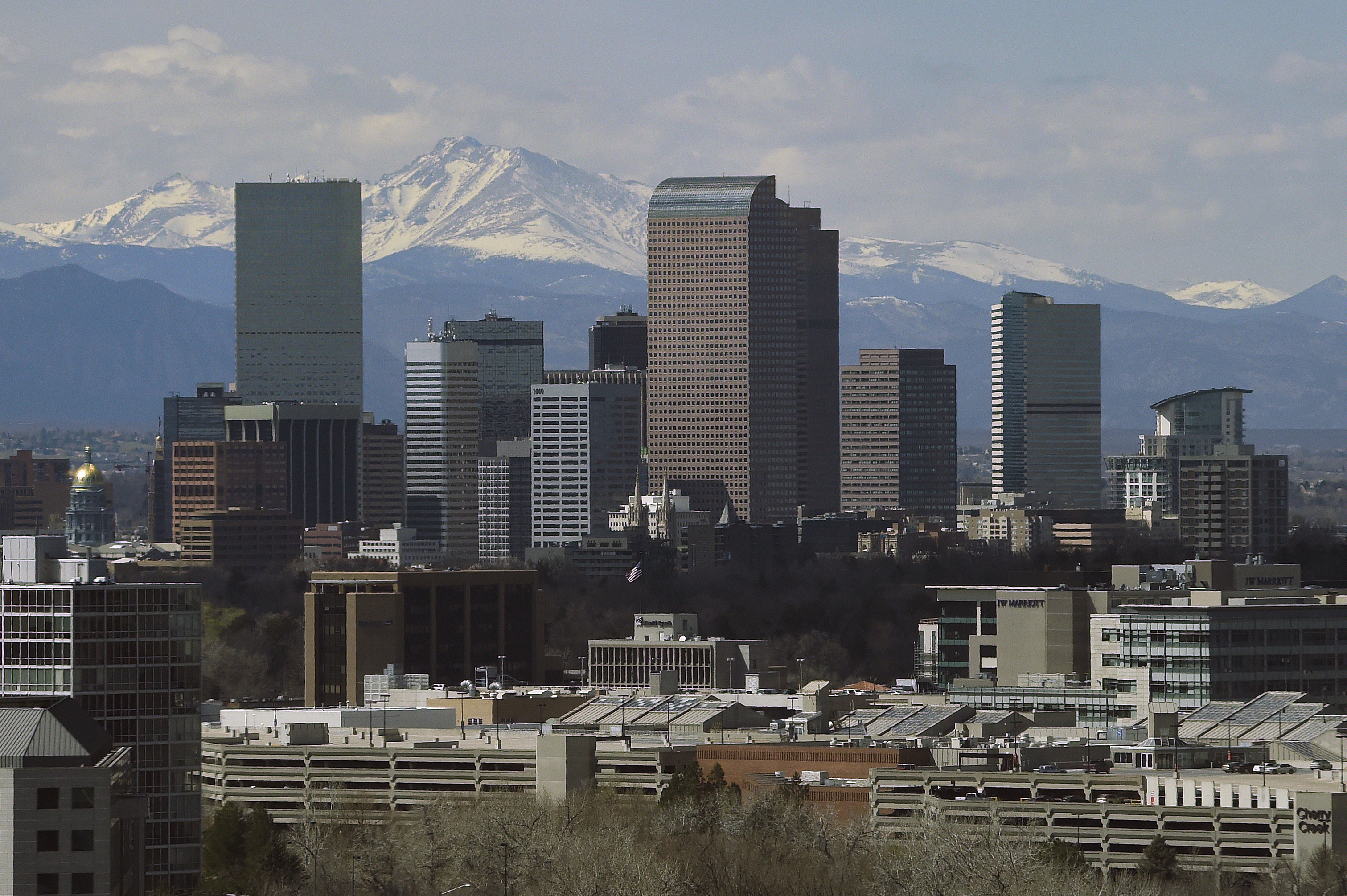 Denver Skyline in Denver , Colorado.