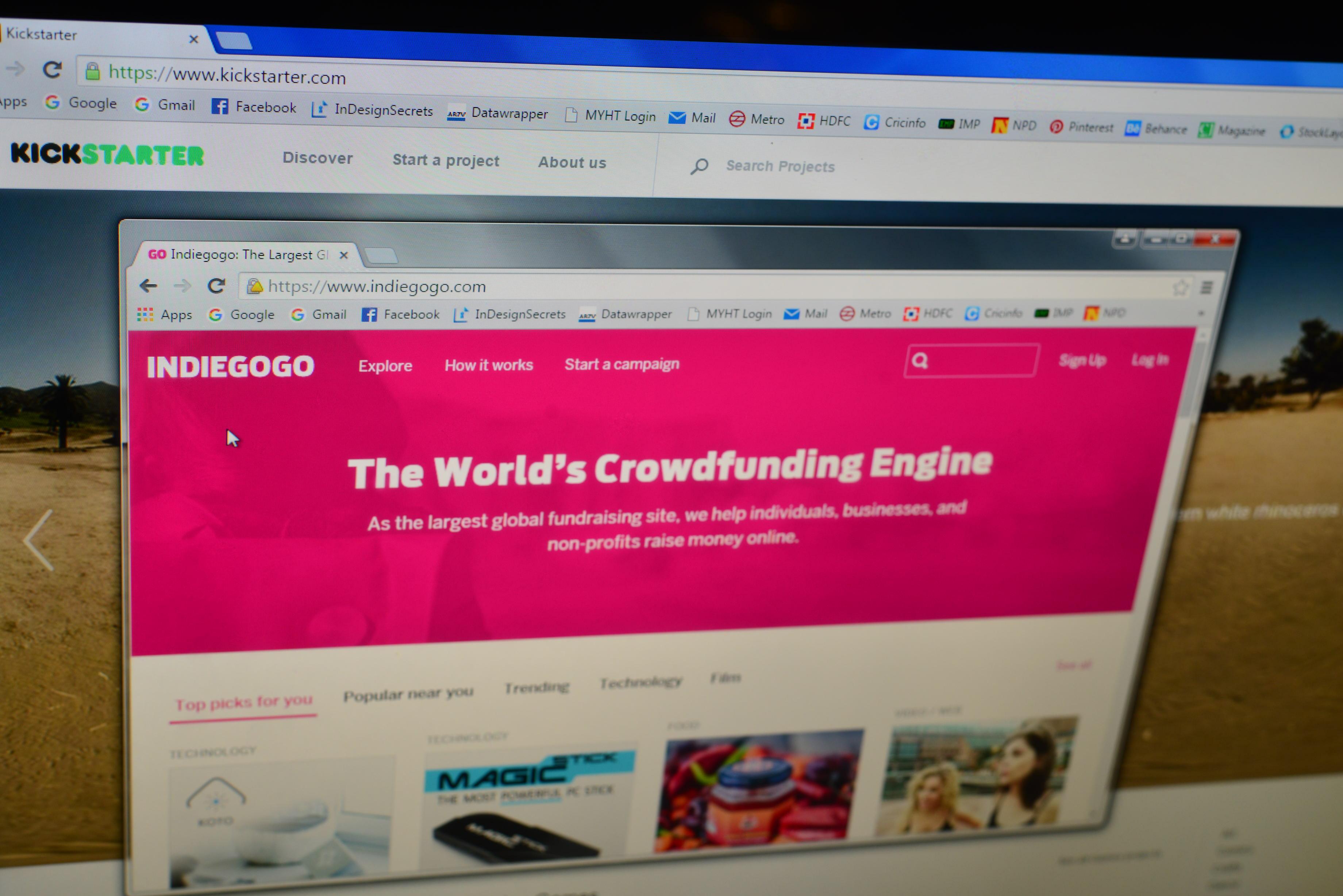 Crowd Financing website shoot - indiegogo.com and kickstarter.com
