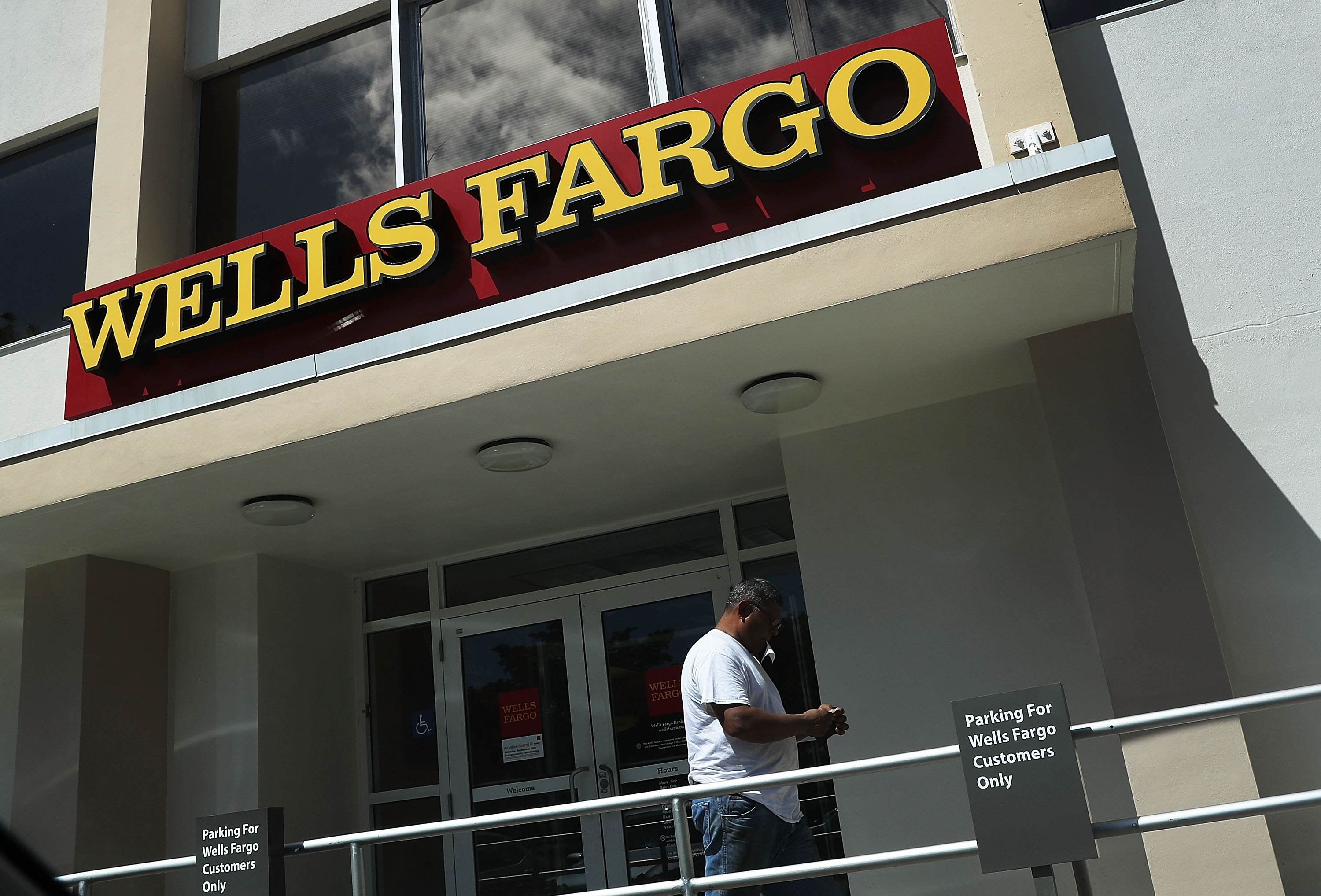 A Wells Fargo bank branch in Miami, Florida.