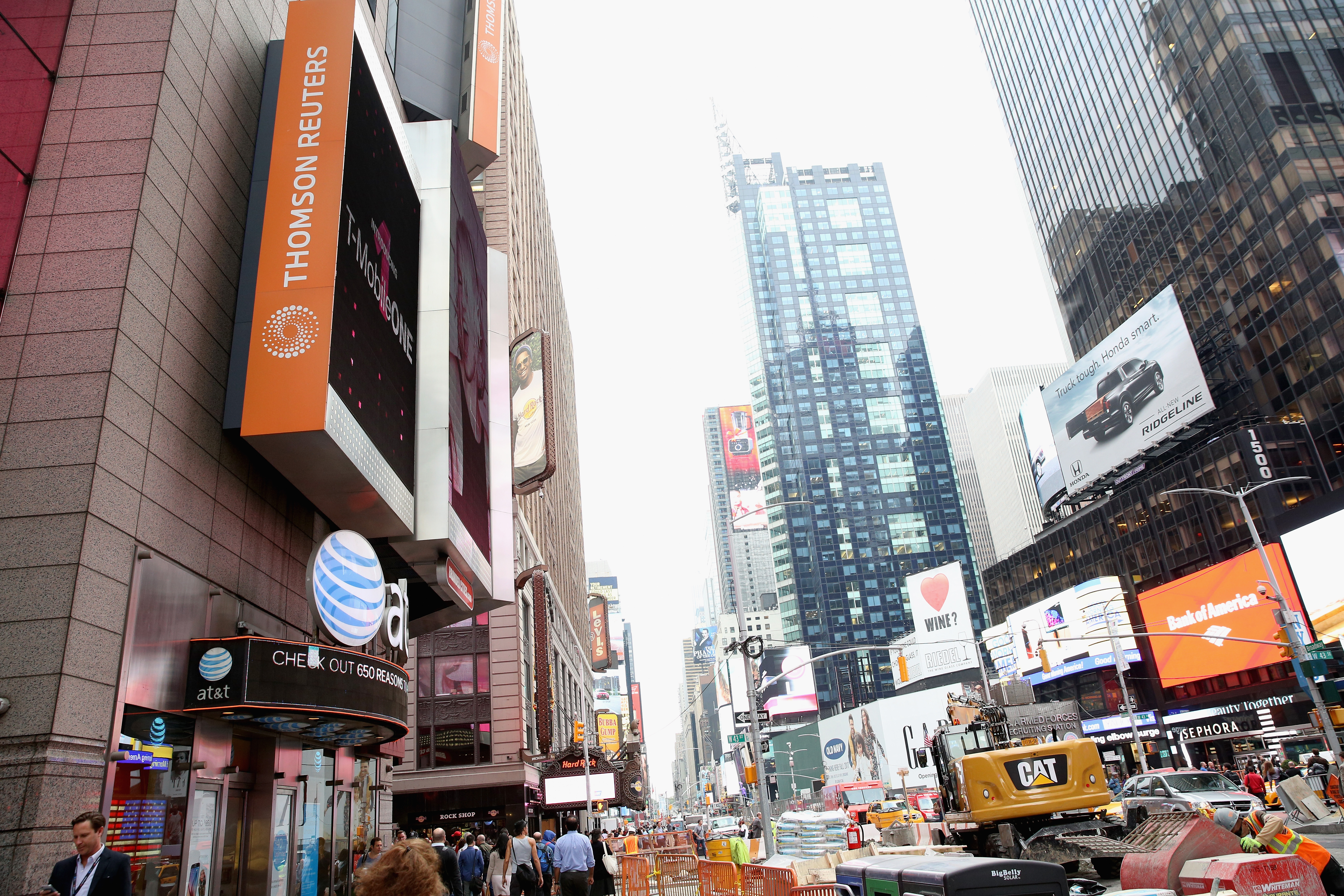 A view outside at Thomson Reuters during 2016 Advertising Week in New York City.
