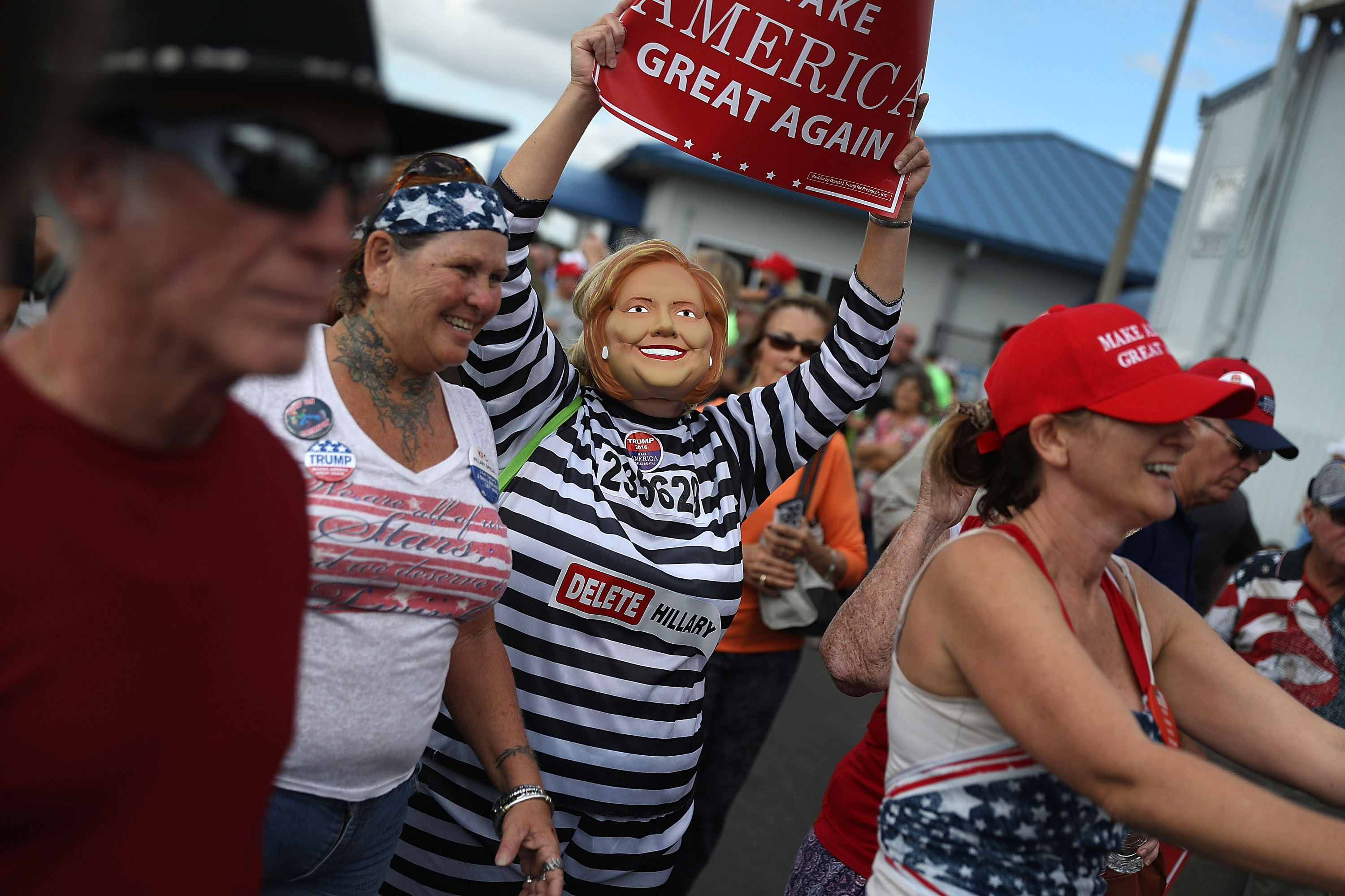 GOP Presidential Nominee Donald Trump Campaigns In Battleground State Of Florida