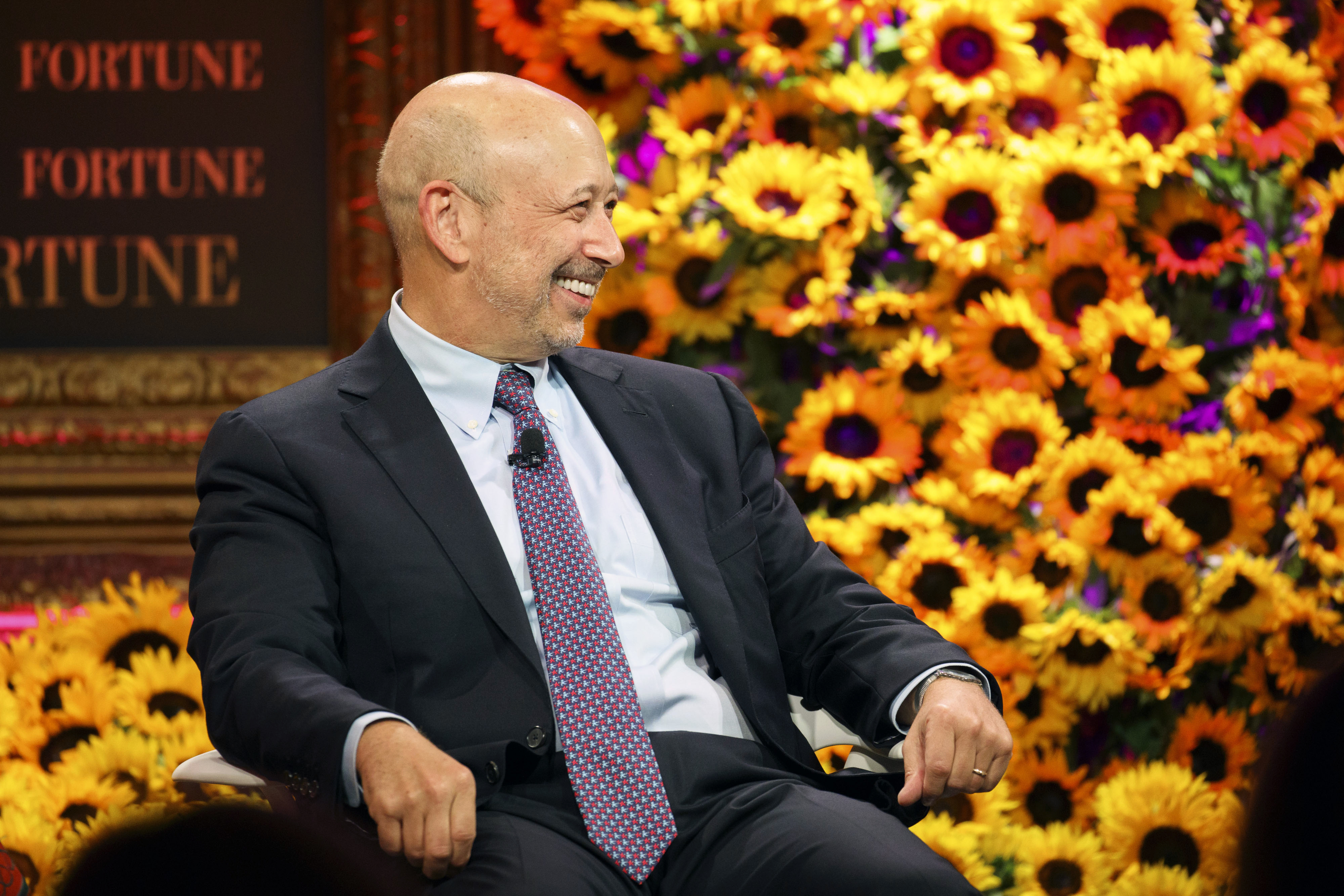Lloyd Blankfein, chairman and chief executive officer of the Goldman Sachs, speaks during the Fortune Most Powerful Women Summit on Tuesday, Oct. 18, 2016.