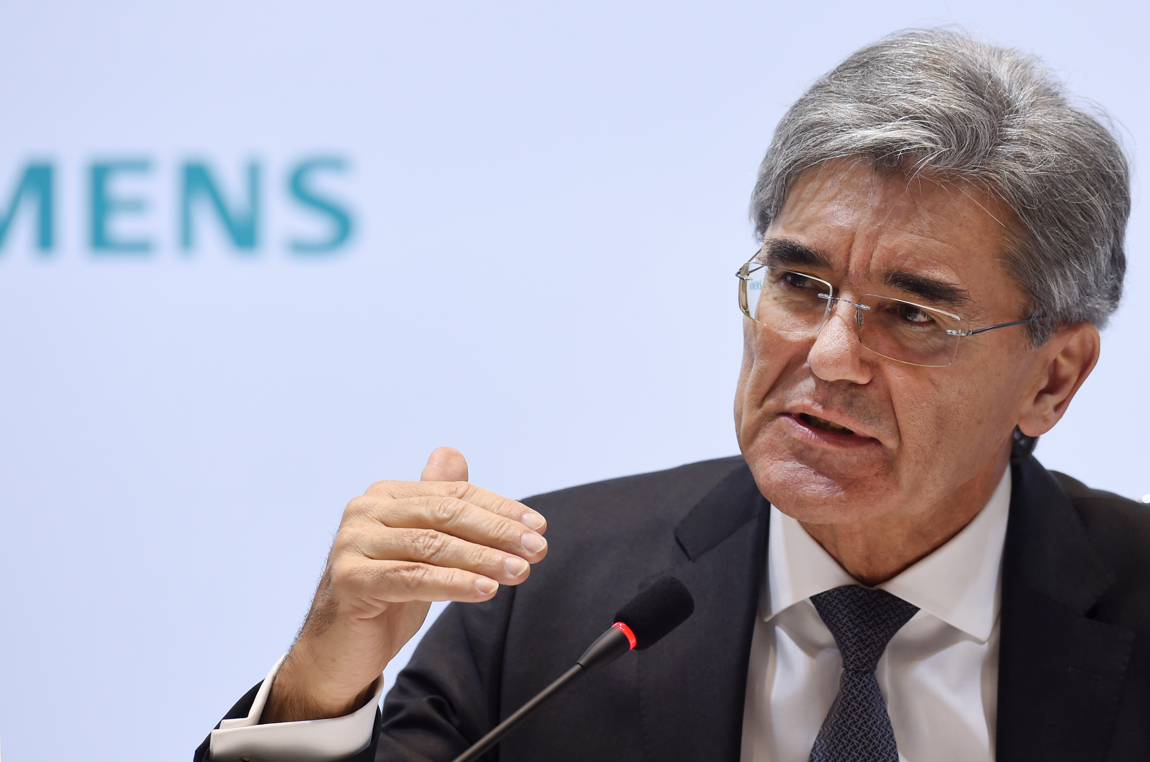 Joe Kaeser, CEO of German industrial giant Siemens, attends the annual results press conference in Munich, southern Germany, on November 10, 2016.