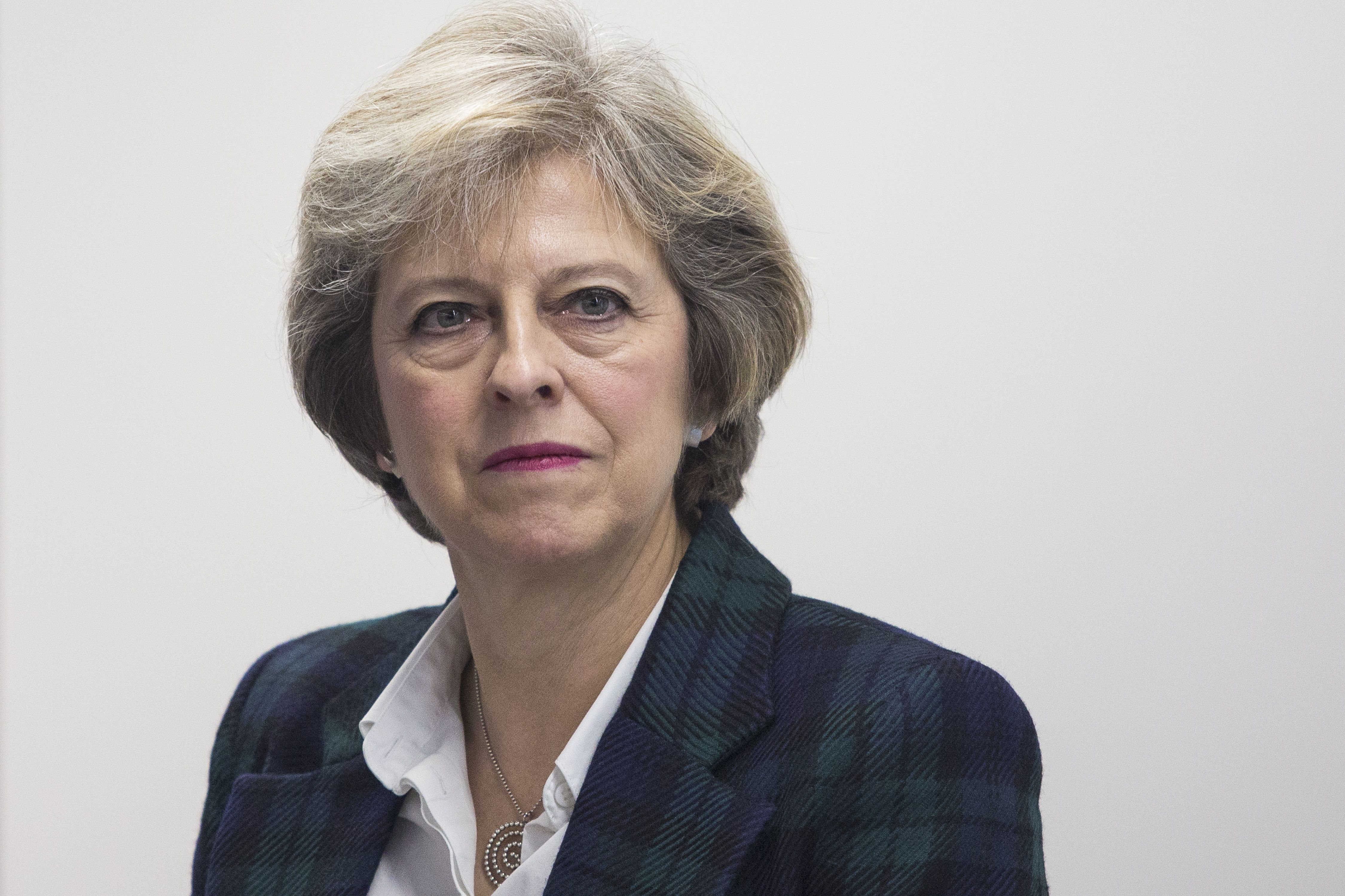 Britain's Prime Minister Theresa May in London on November 14, 2016.