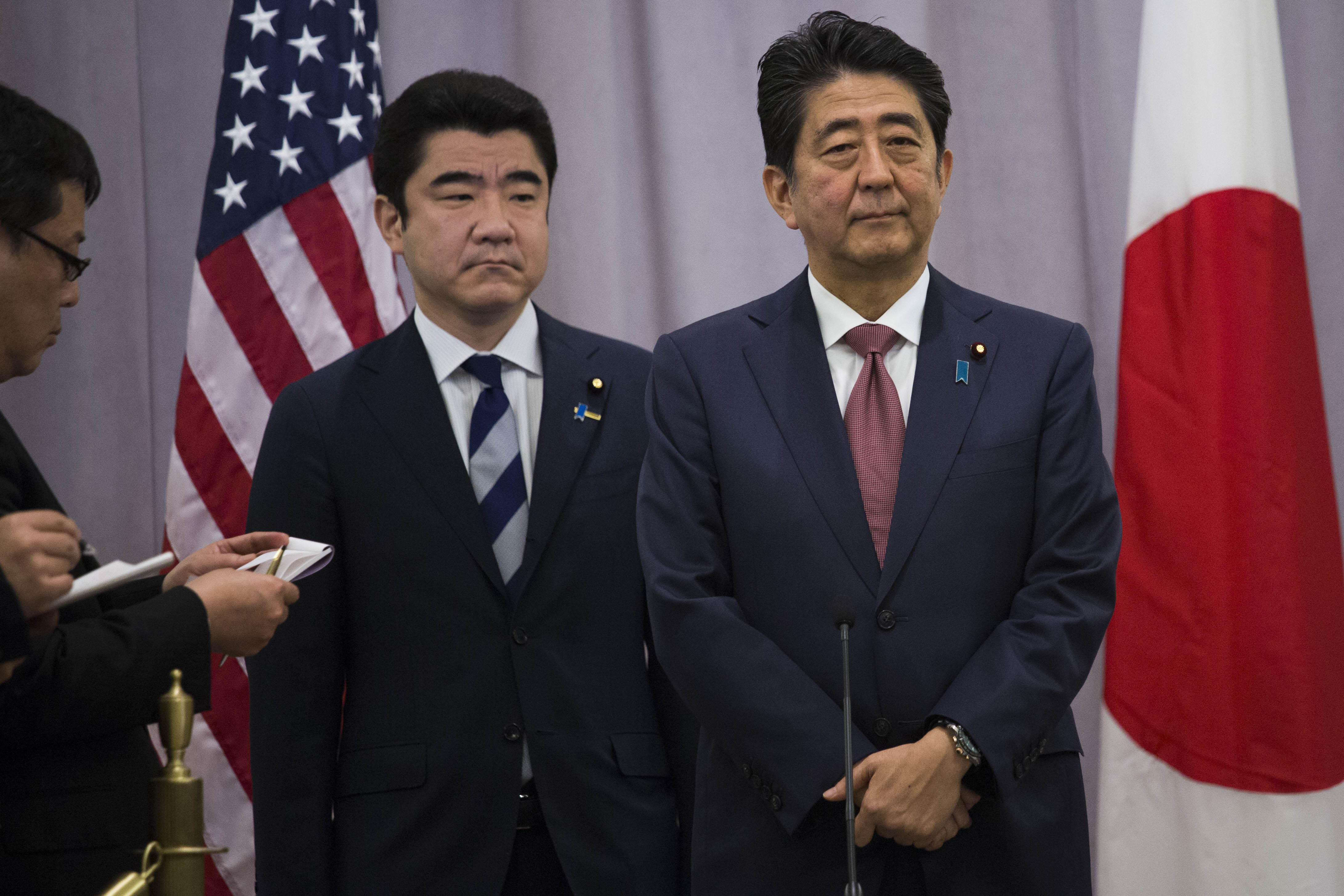 President-Elect Donald Trump Meets With Japanese Prime Minister Shinzo Abe
