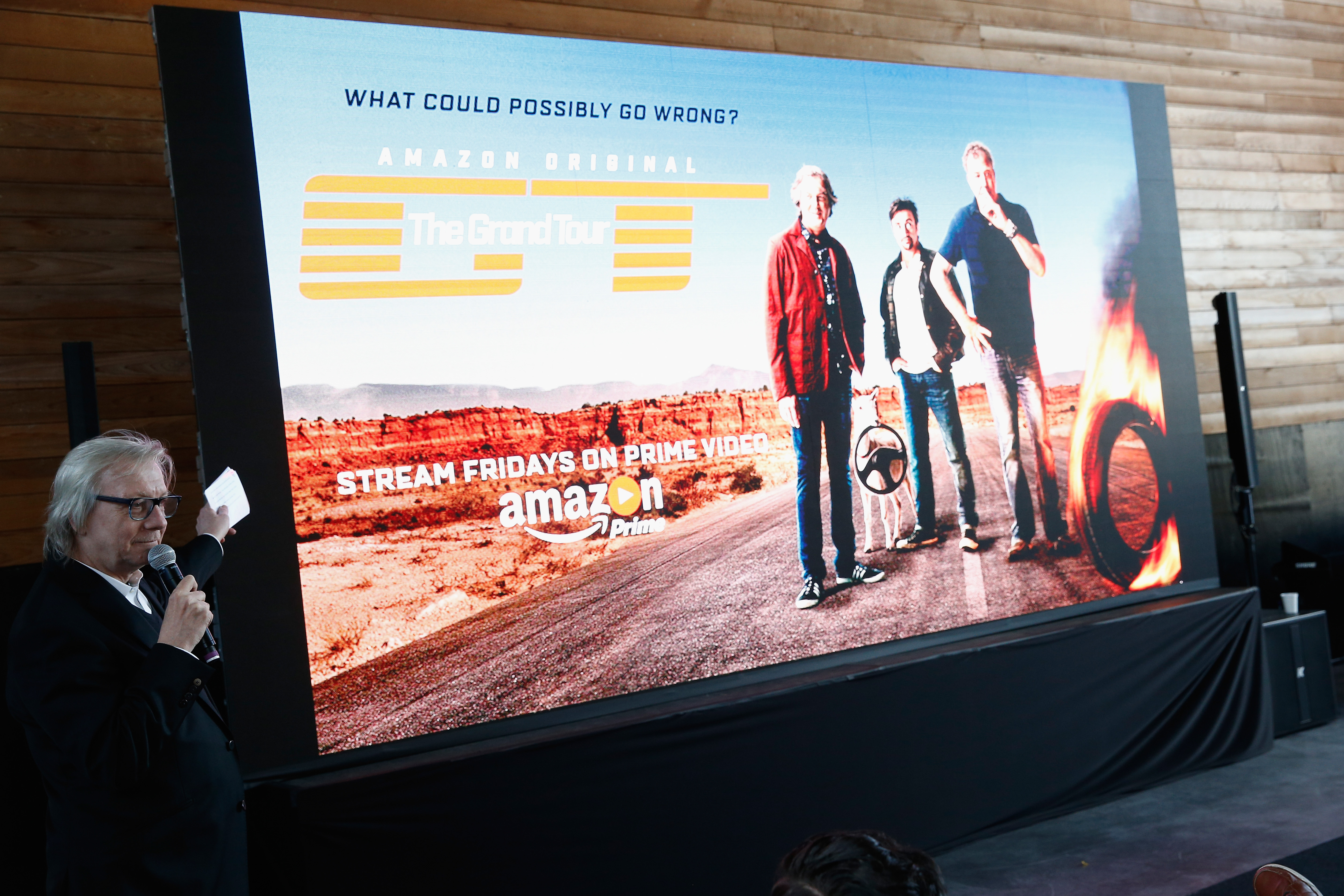 Jim Kerr speaks at Amazon Prime Video celebrates The Grand Tour with a VIP Fan Experience at Classic Car Club in New York City.