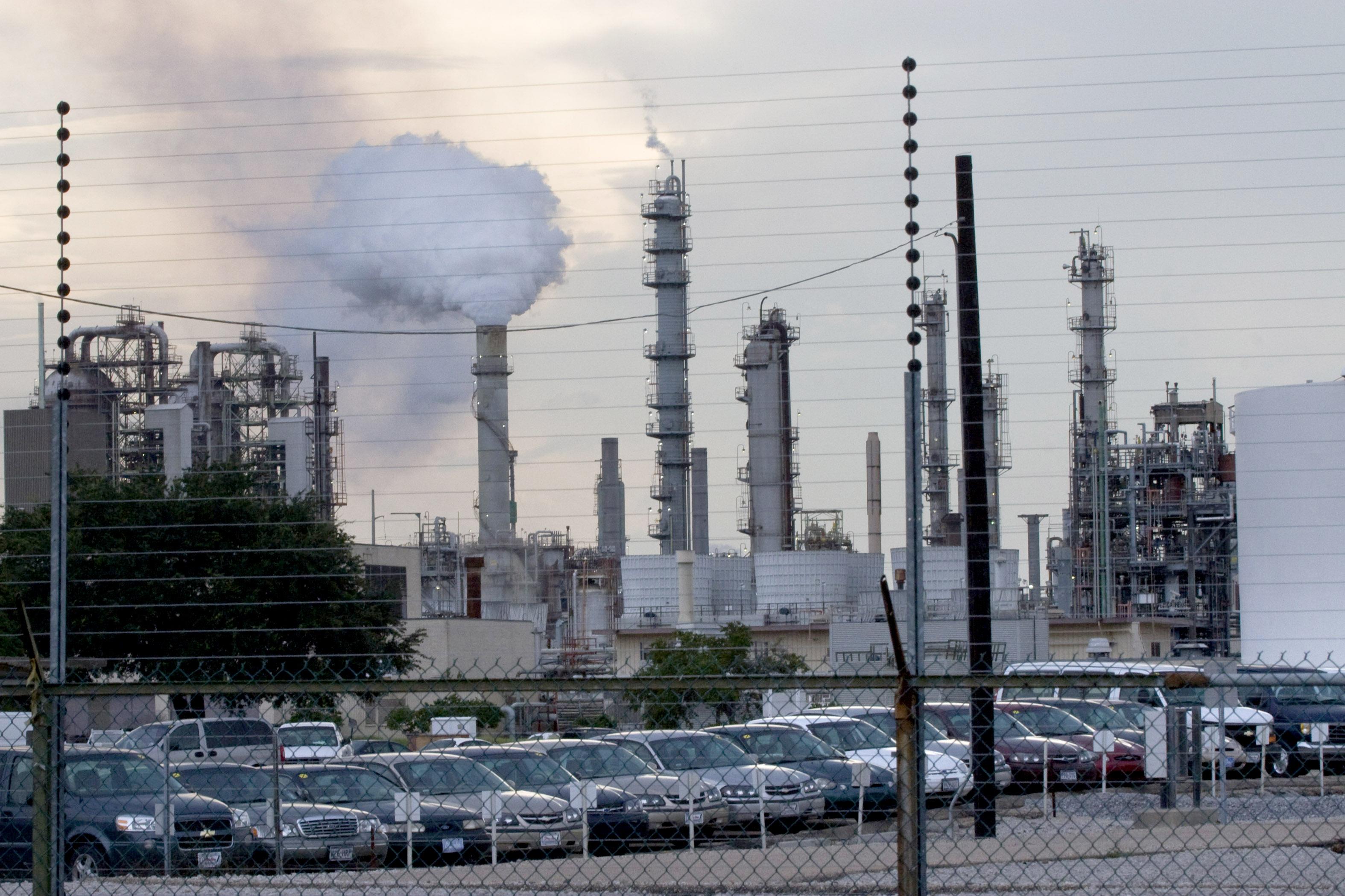 An ExxonMobil refinery in Baton Rouge, Louisiana.