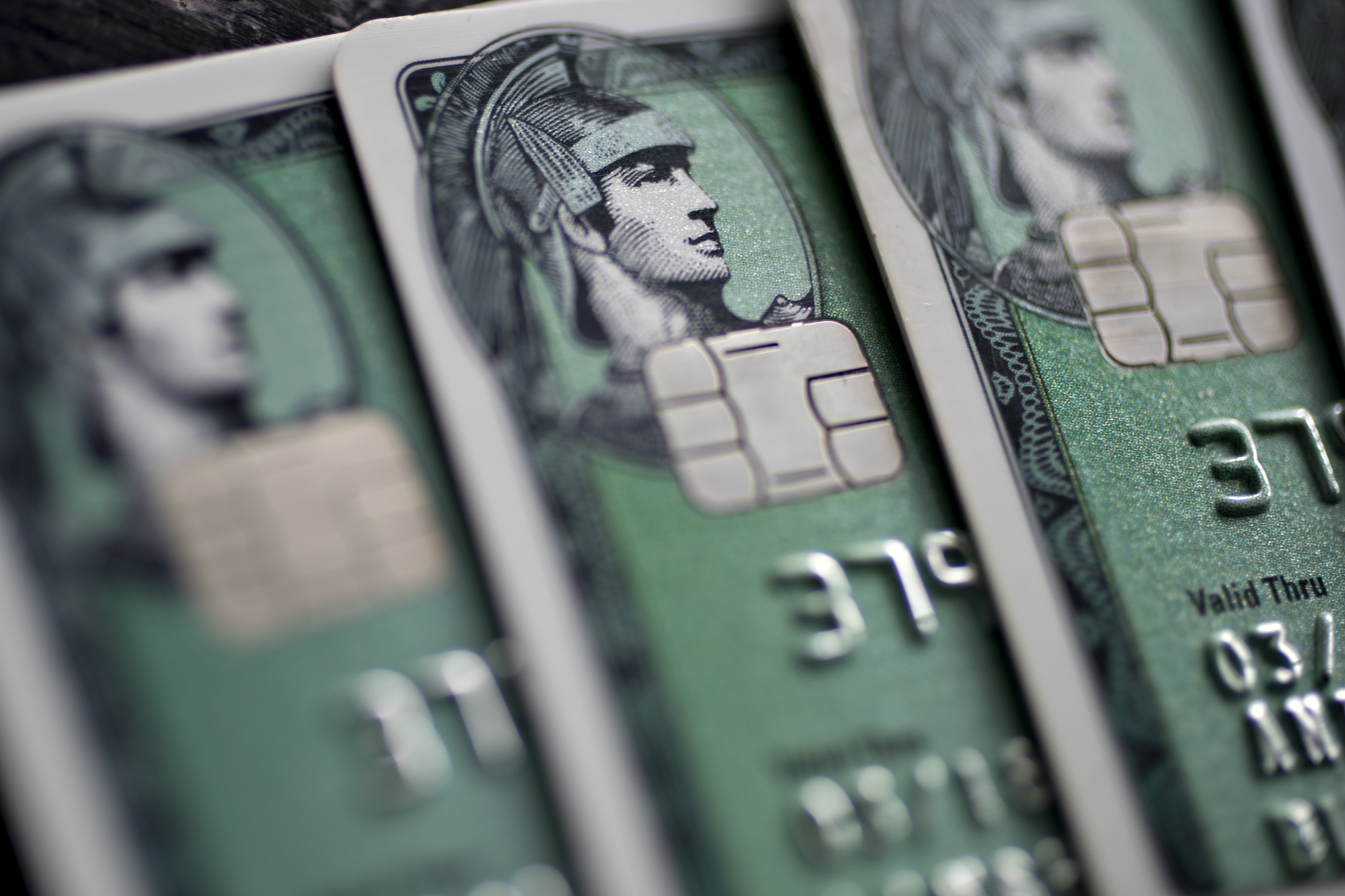 American Express Credit Card Illustrations After Posting Third-Quarter Profit