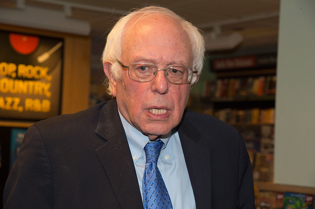 """Bernie Sanders Signs Copies Of """"Our Revolution: A Future To Believe In"""""""
