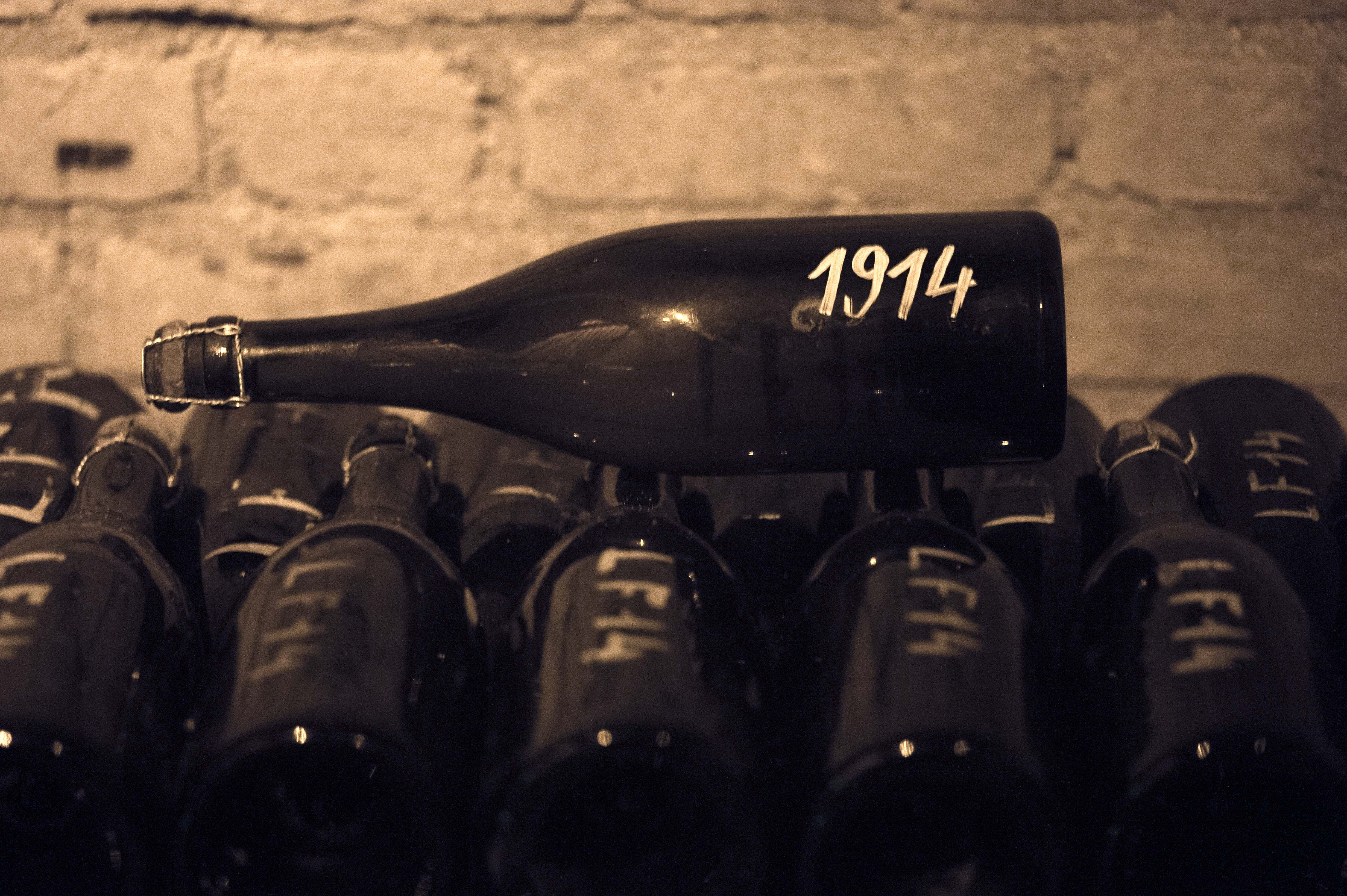 A 1914 bottle of Bollinger is being sold with an 'experience' that has a starting bid of $10,000.