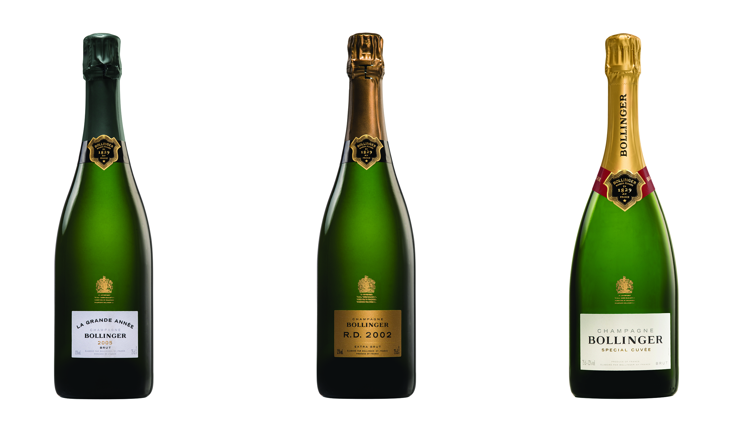 Bollinger bottles that will be auctioned by Sotheby's on Saturday.