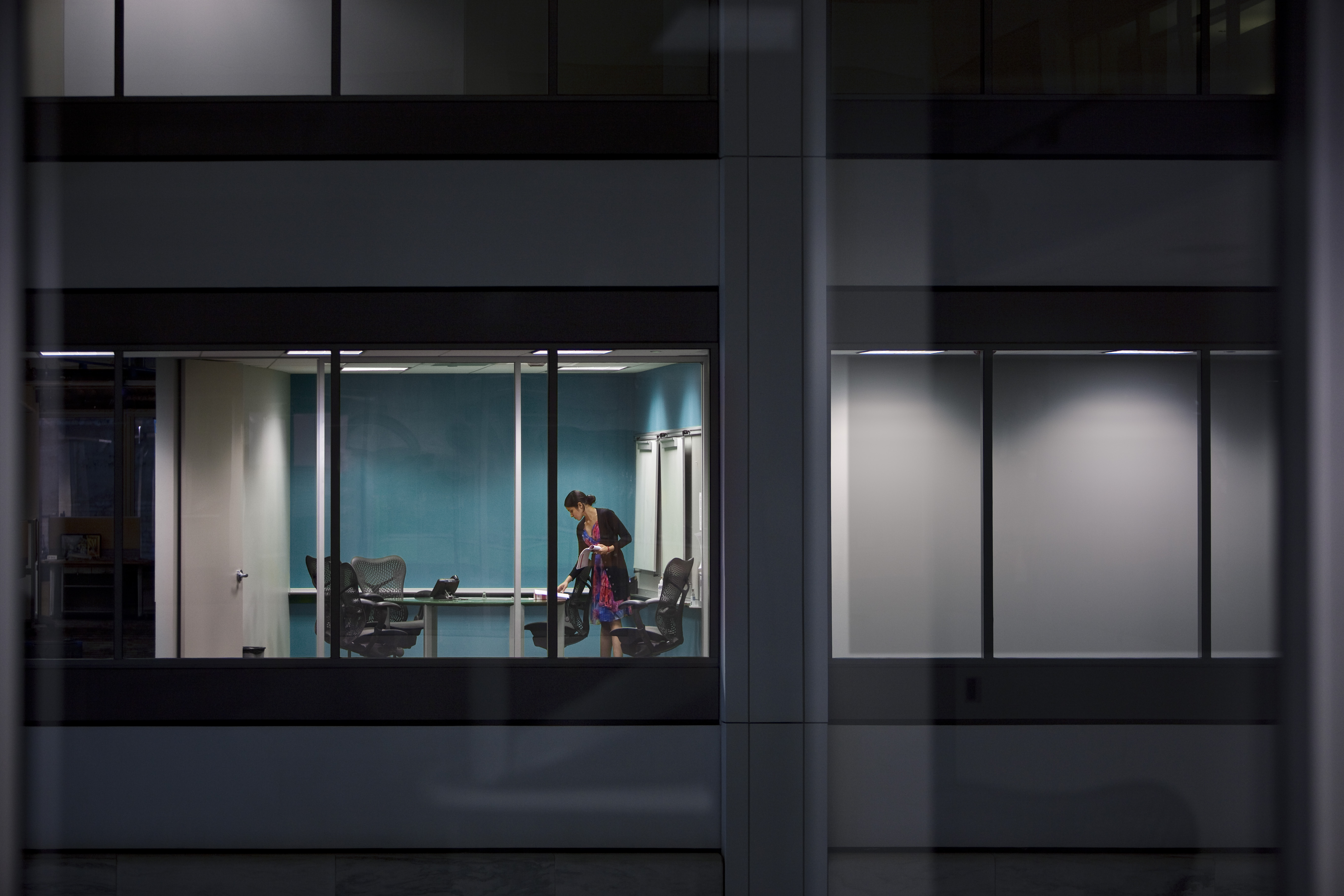 Business woman preparing for meeting