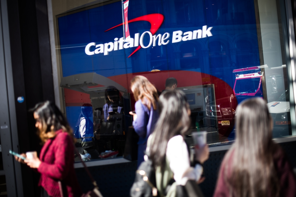 A Capital One Financial Corp. Bank Branch Ahead Of Earnings Figures
