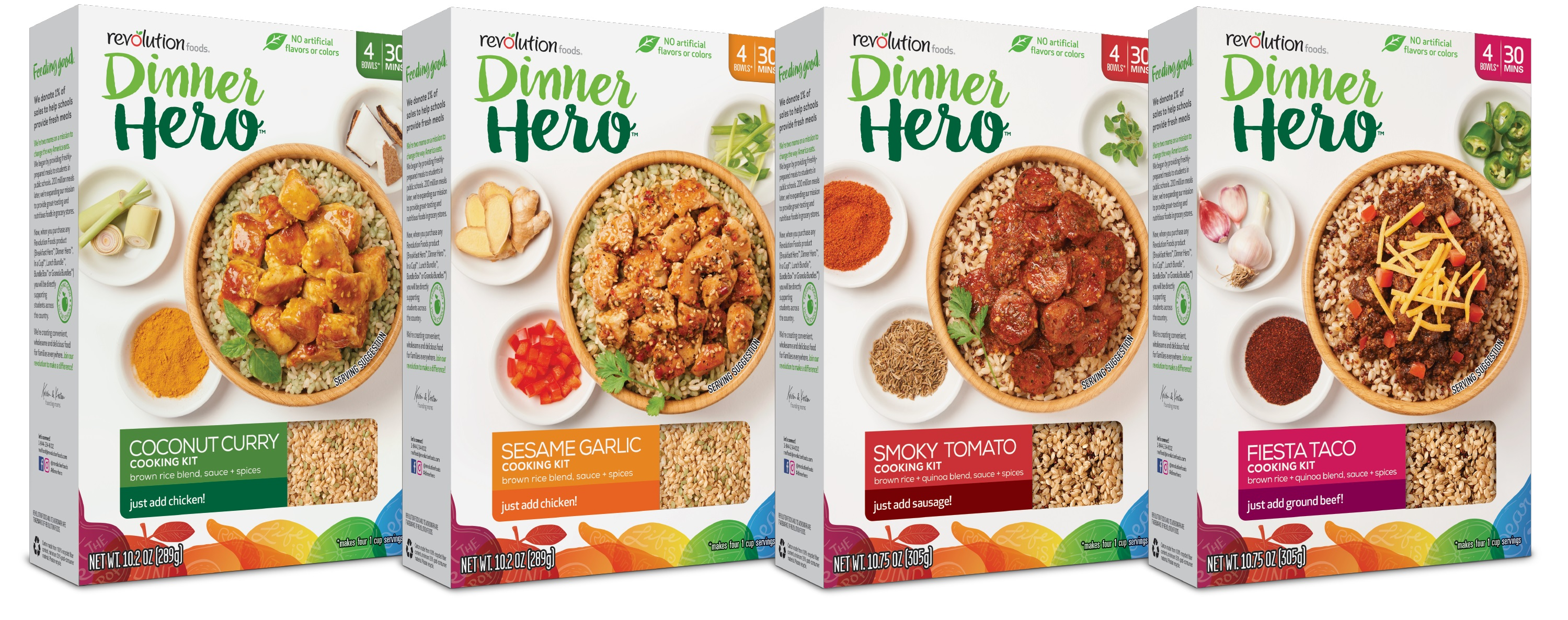 Revolution Foods' new line of Dinner Hero meal kits