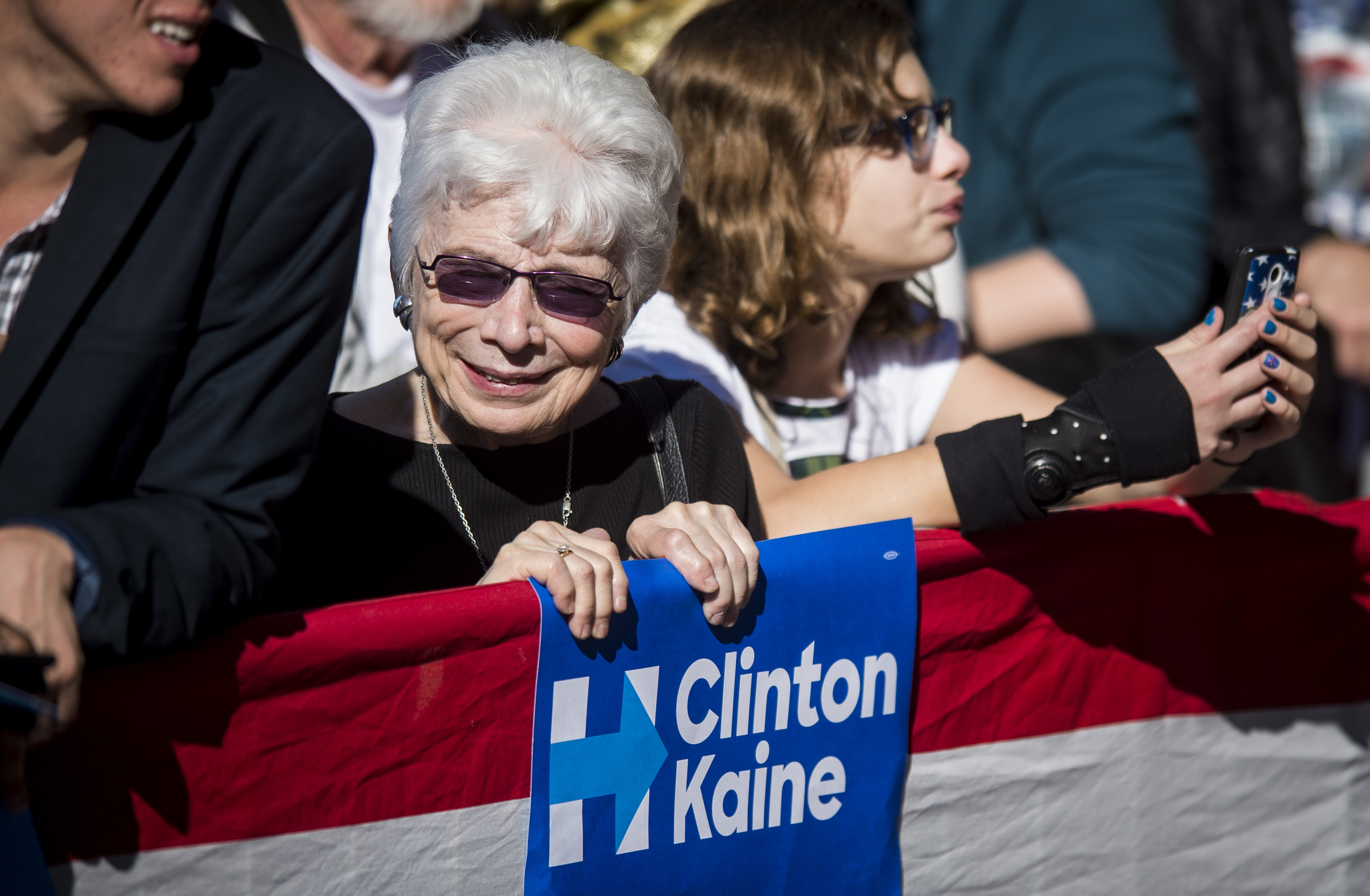 Democratic Presidential Candidate Hillary Clinton Holds Pittsburgh Campaign Rally