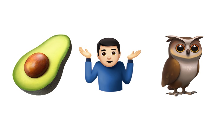 The new avocado, shrug, and owl emojis