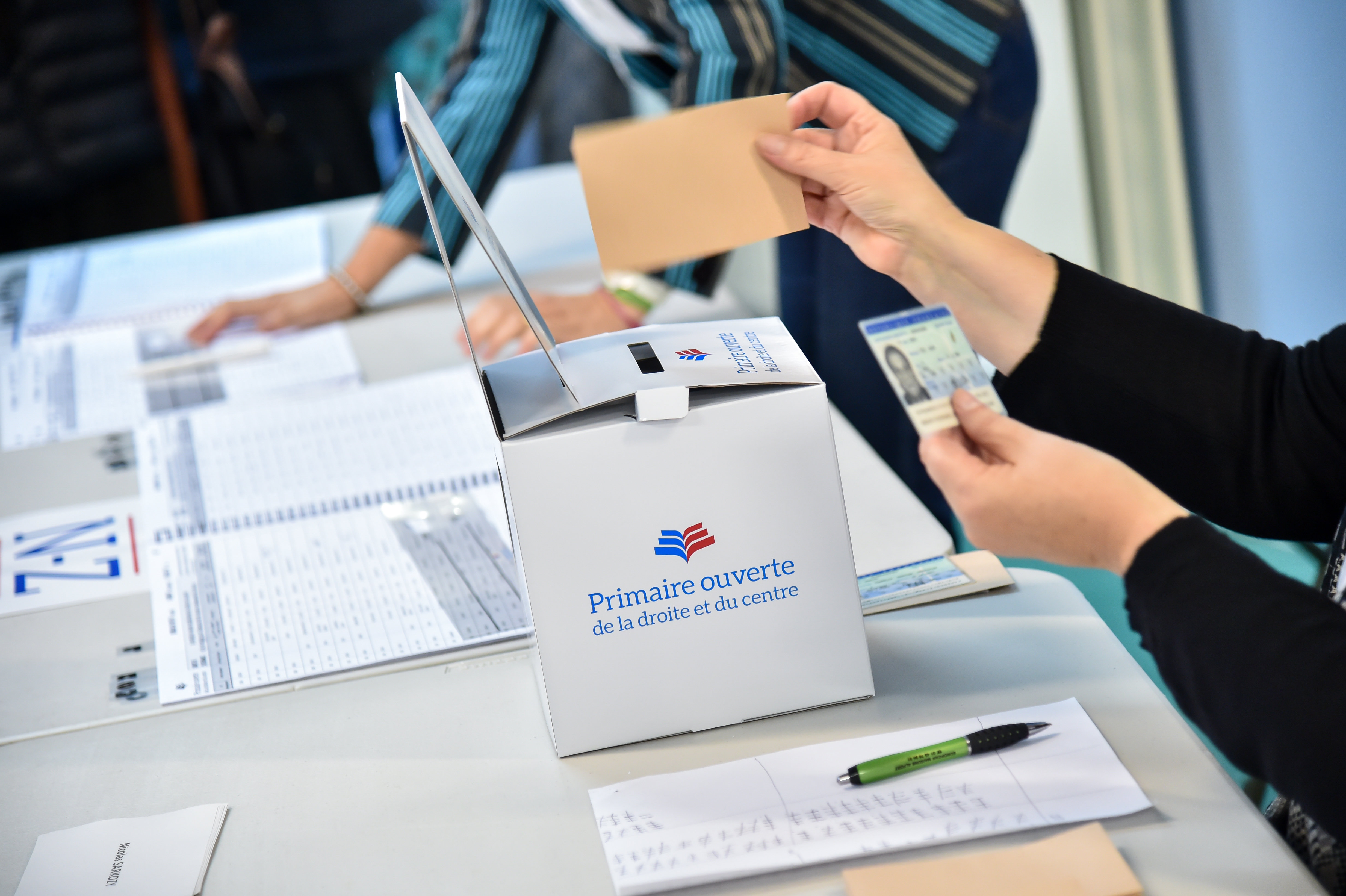 France: LR party primaries Vote Polling Station