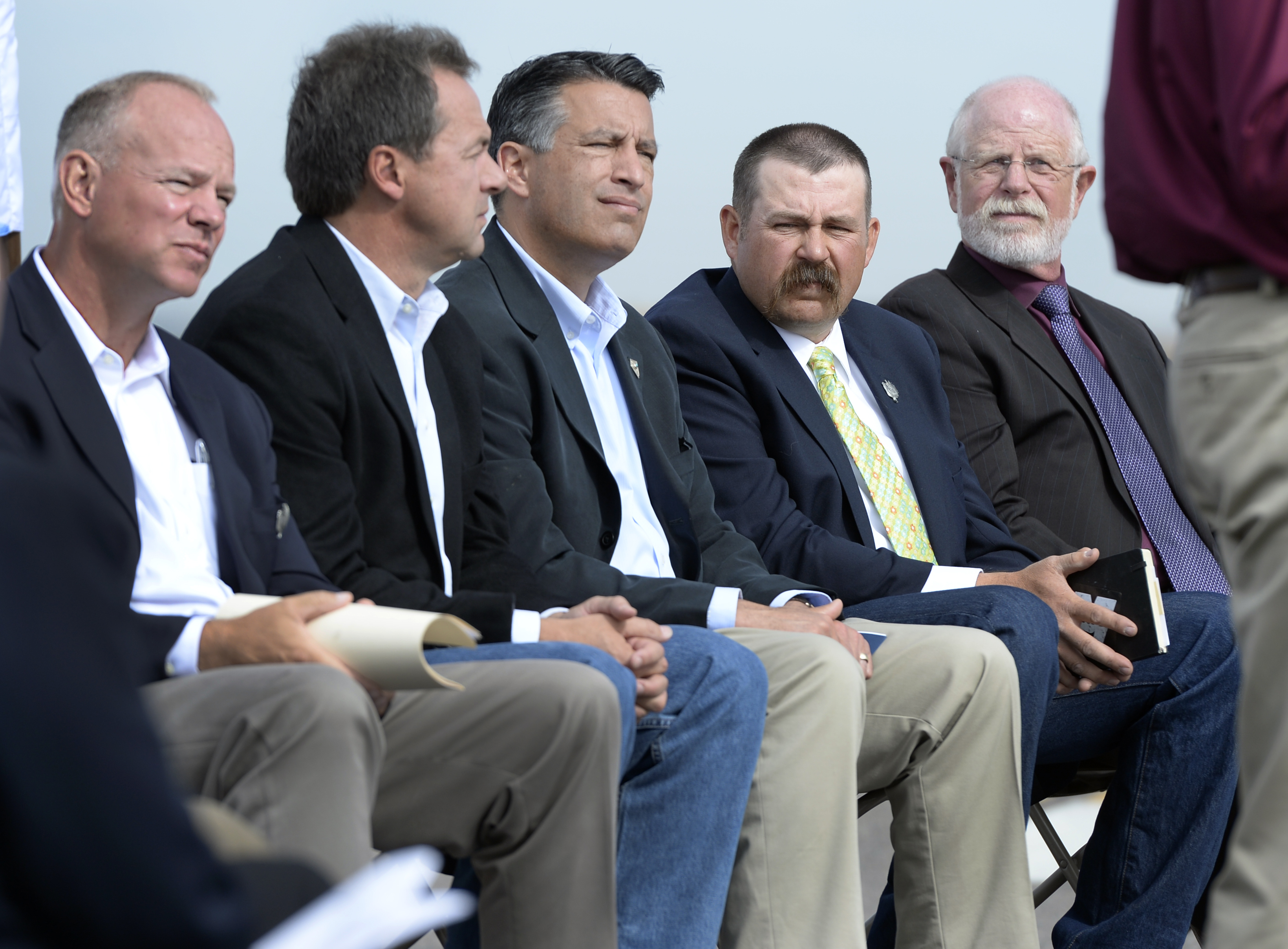 U.S. Secretary of the Interior Sally Jewell joins western governors and other officials at the Rocky Mountain Arsenal National Wildlife Refuge in Denver.