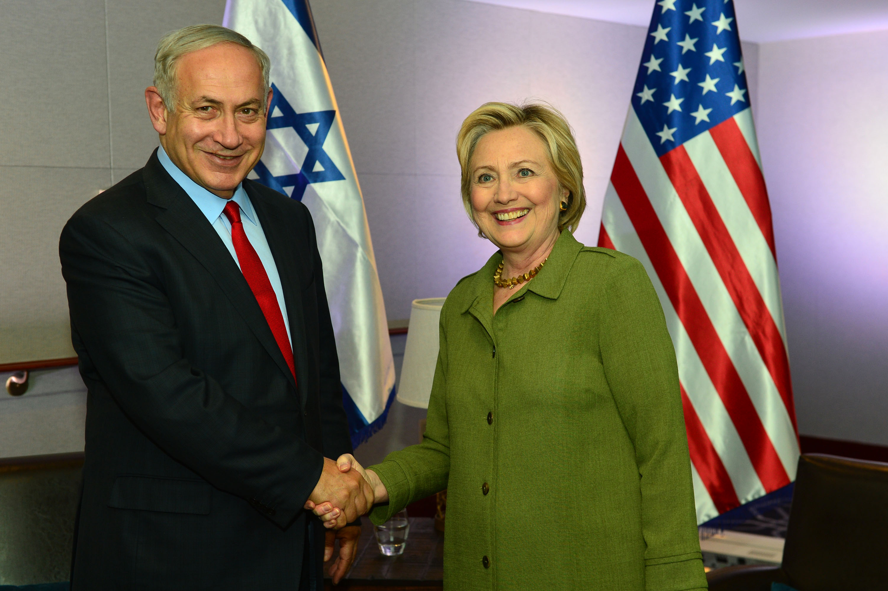 Israeli Prime Minister Netanyahu Meets With Hillary Clinton in New York