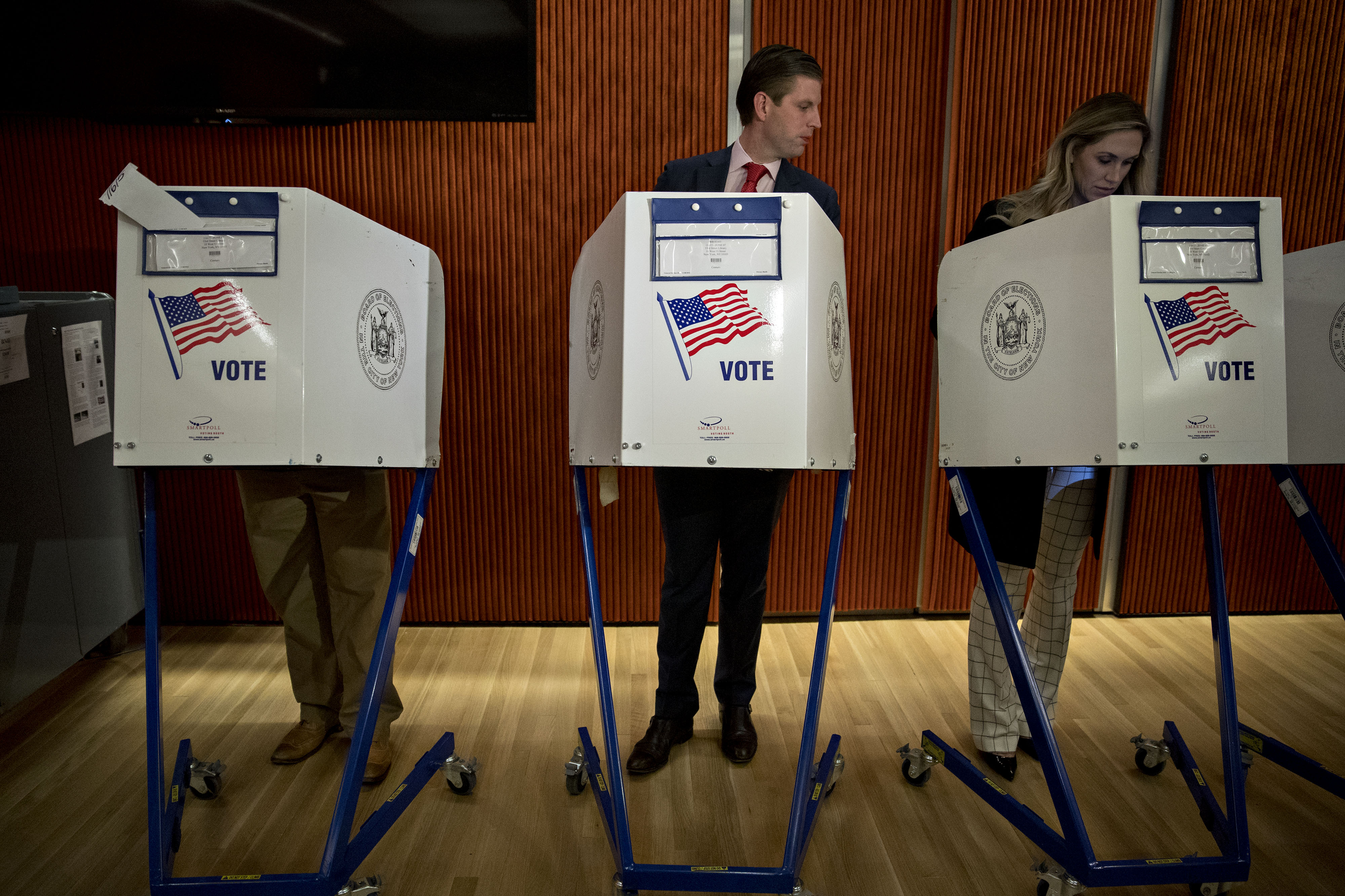Voters Cast Their Ballots For The 2016 U.S. Presidential Election