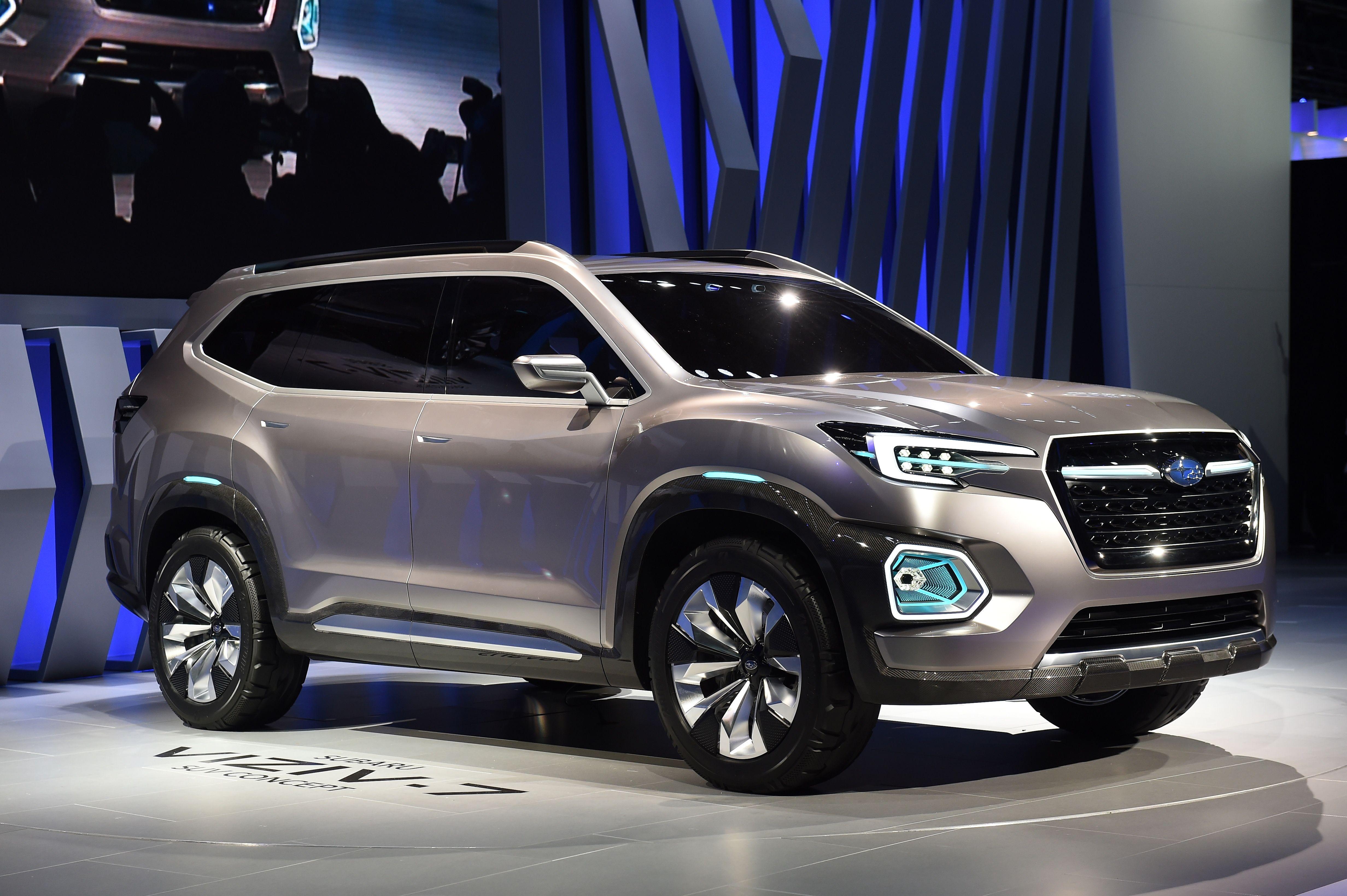 La Auto Show Subaru Unveils The Super Big Suv Viziv 7 Concept Fortune