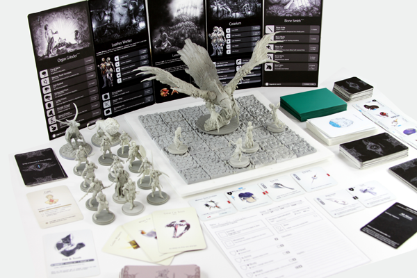 The board game Kingdom Death, a reprint of which is currently being funded on Kickstarter.