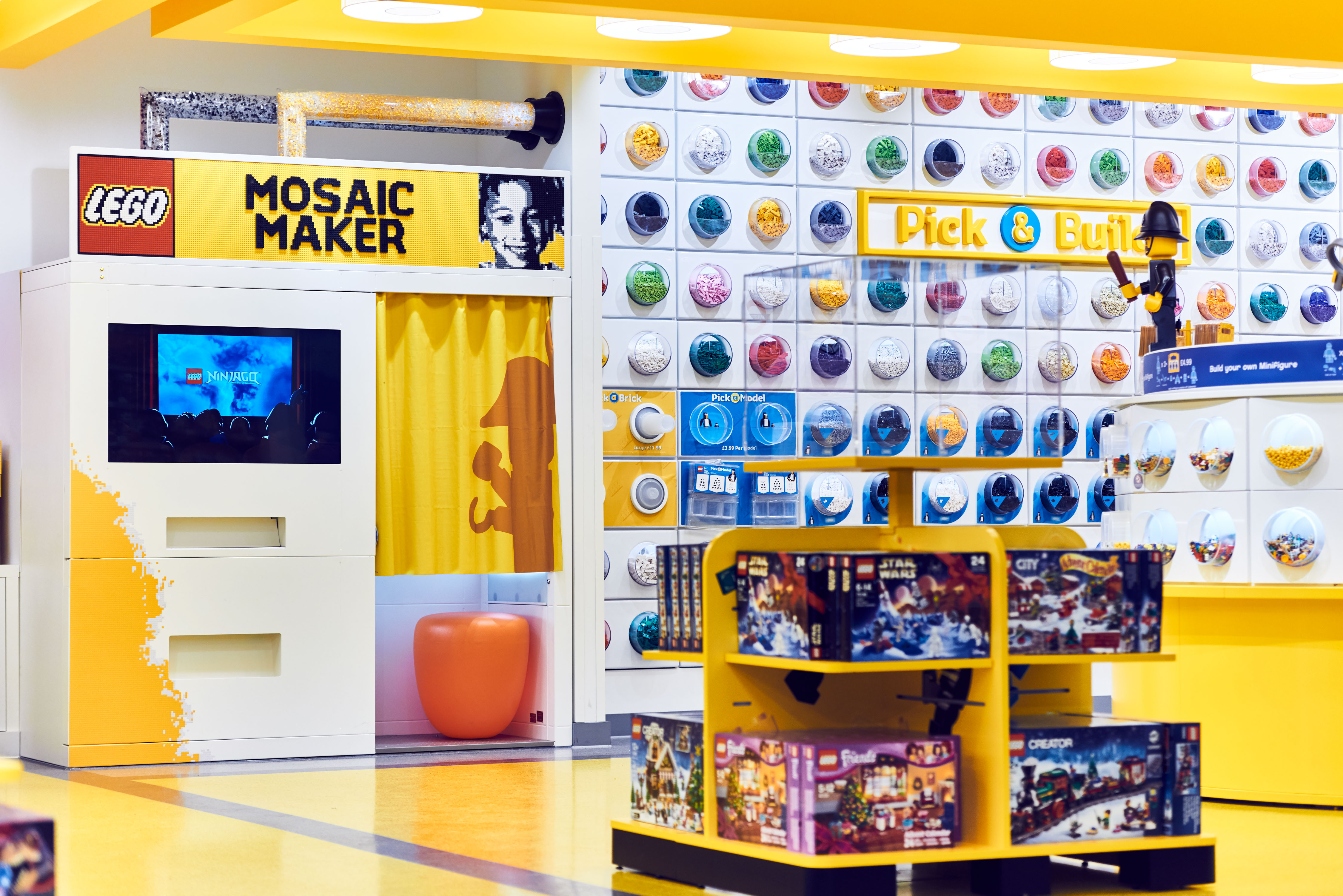 """The """"Mosaic Maker"""" in Lego's new London store."""