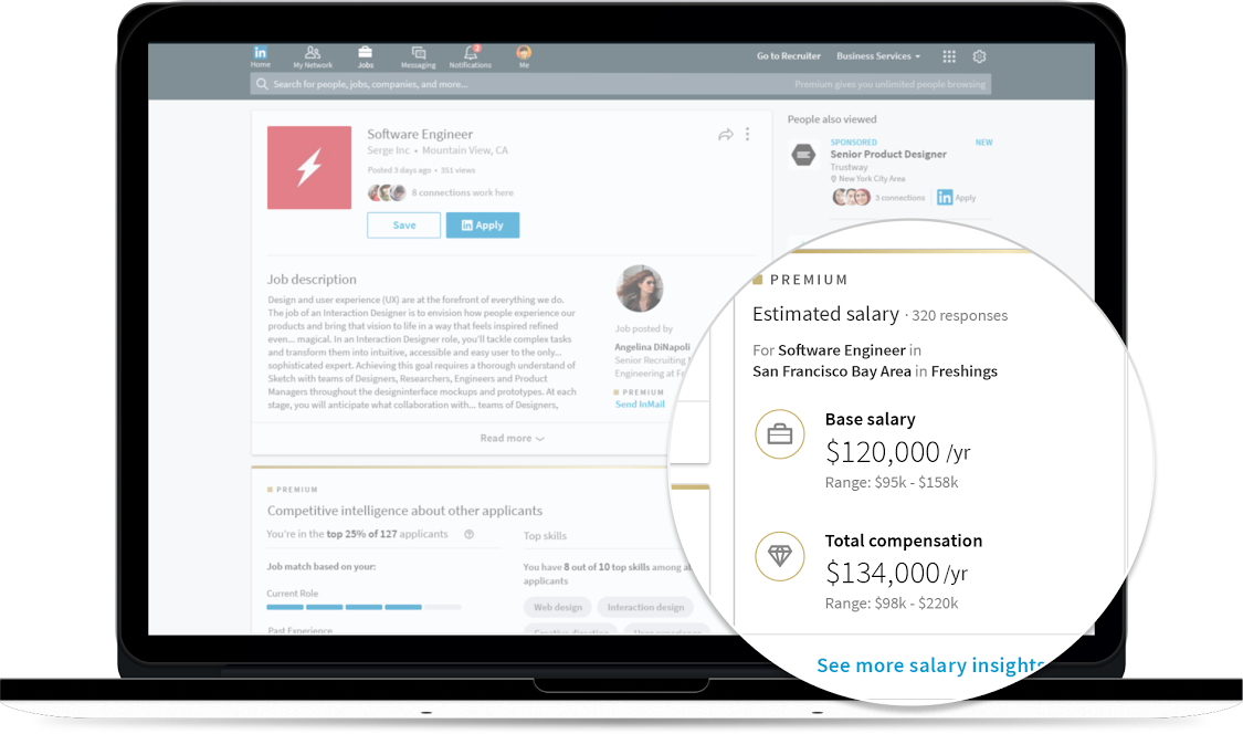 LinkedIn's new salary tool.