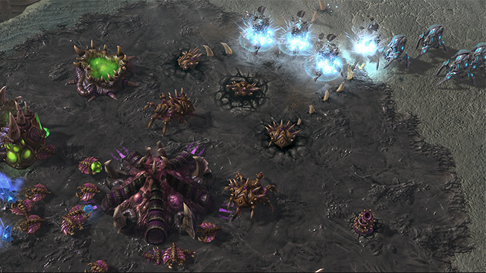 Forces clash in Blizzard's StarCraft II