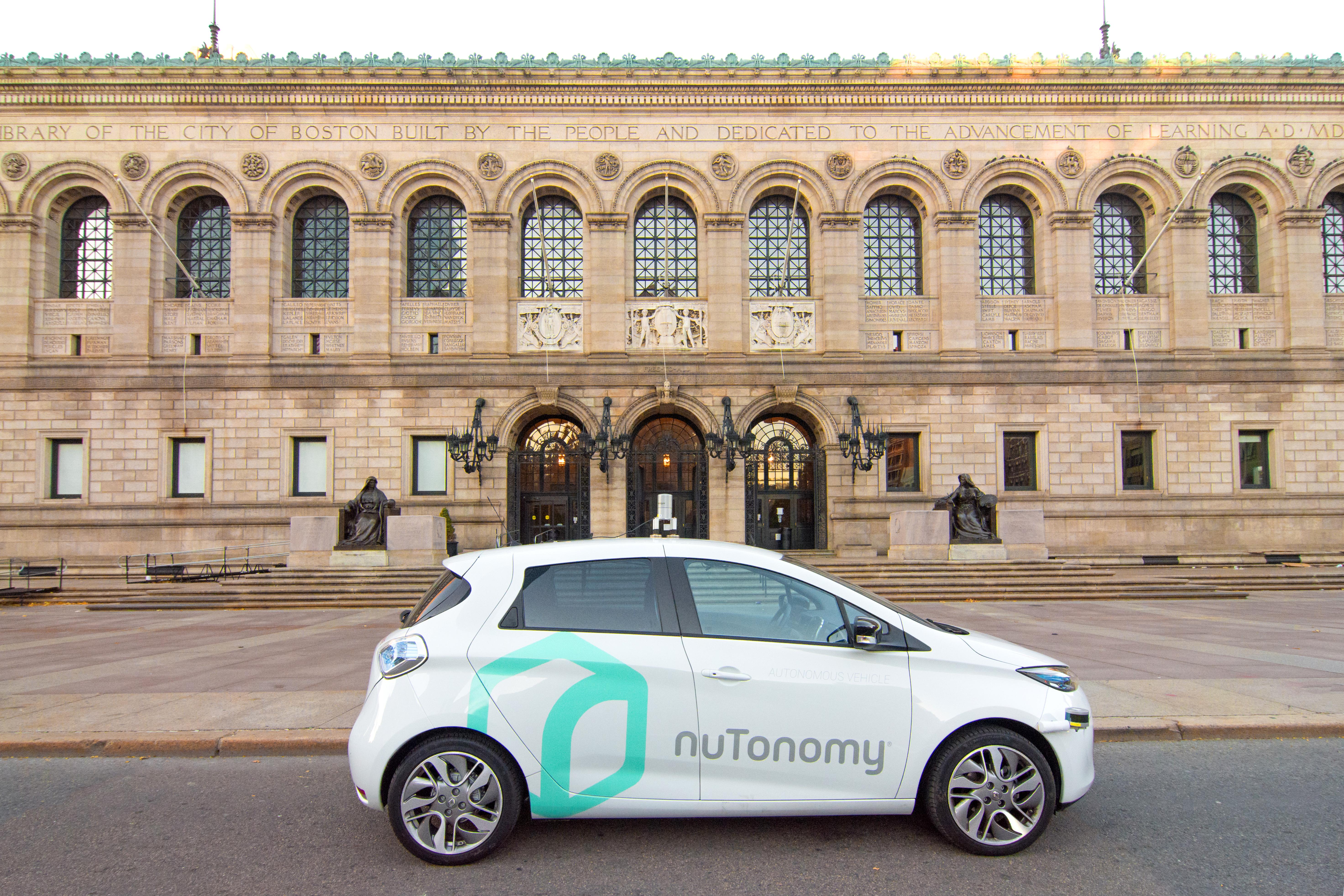 NuTonomy's car will roam the streets of Boston.