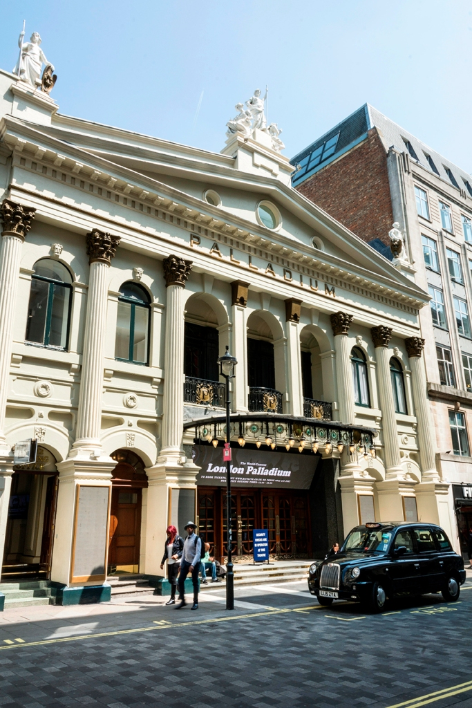 The London Palladium Theatre, Argyll Street, Soho, London, England, UK