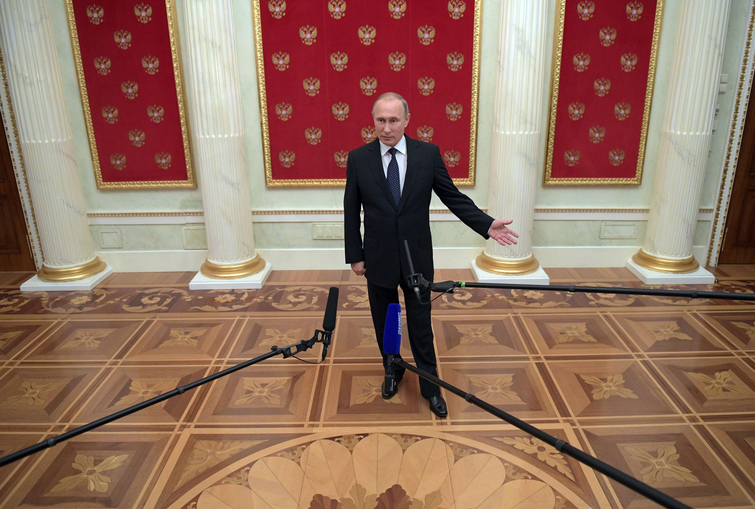 President Vladimir Putin answers media questions
