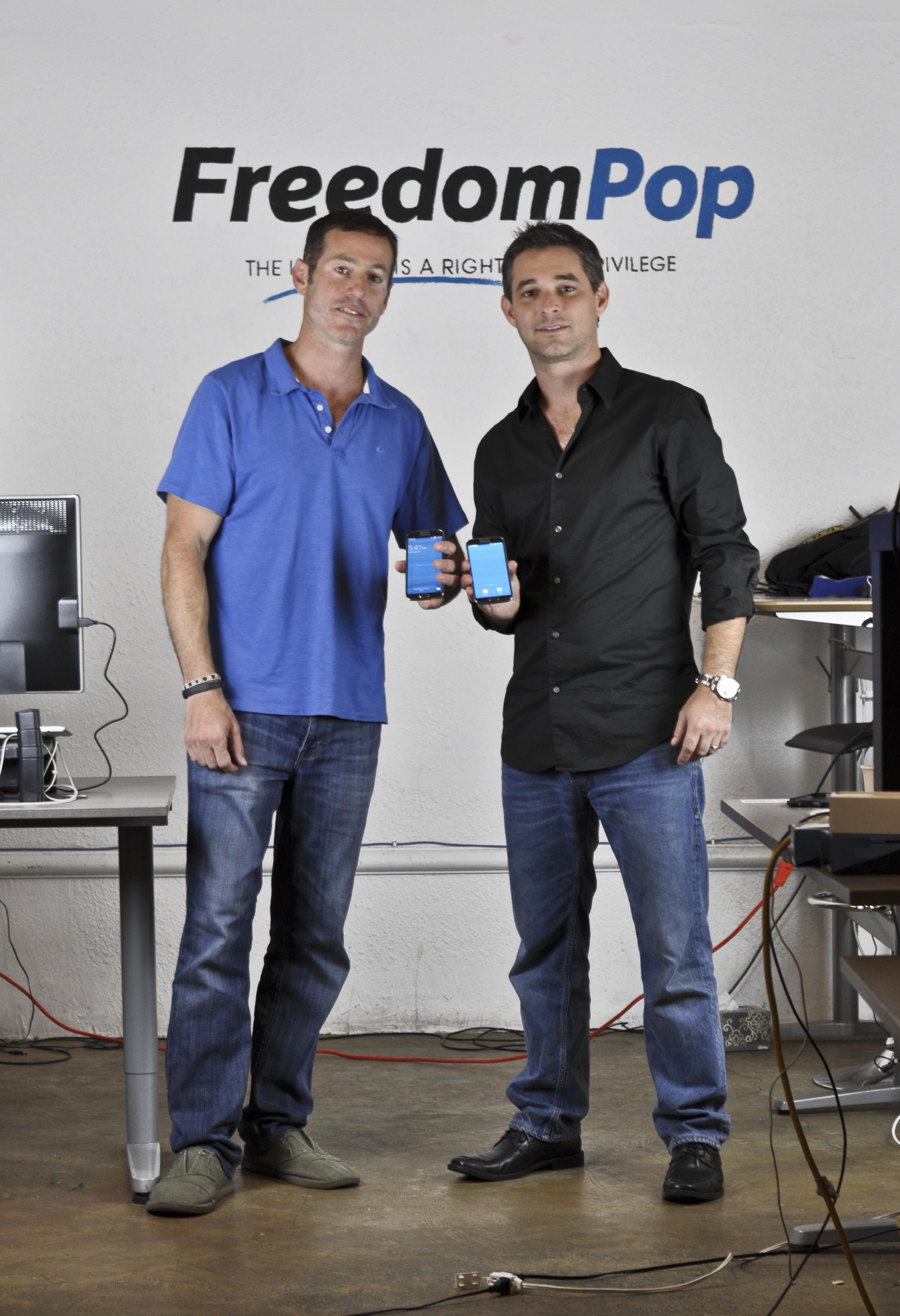 FreedomPop founders Stephen Stokols (L) and Steven Sesar.
