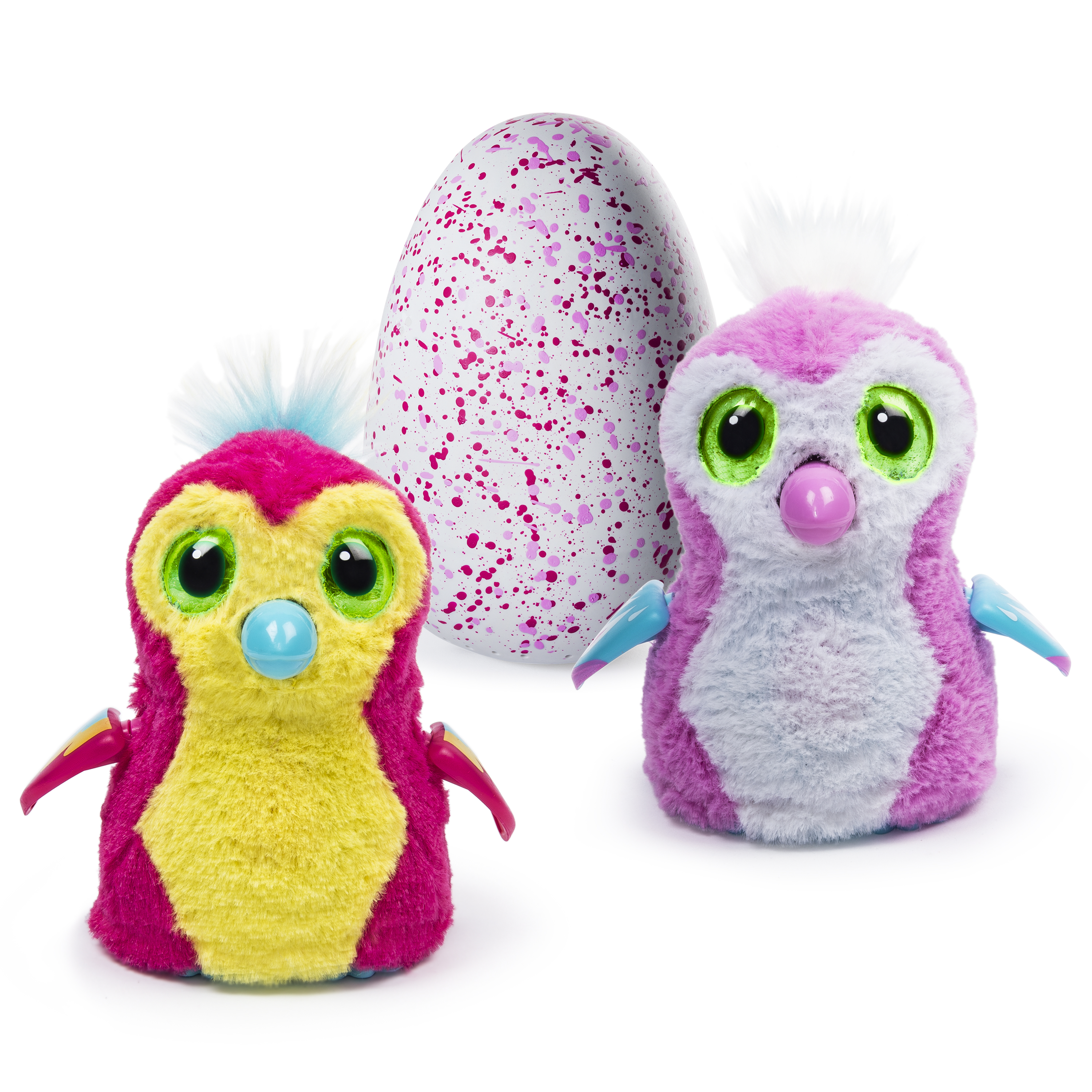 Spin Master offers a couple different species of Hatchimals, including these Pengualas.