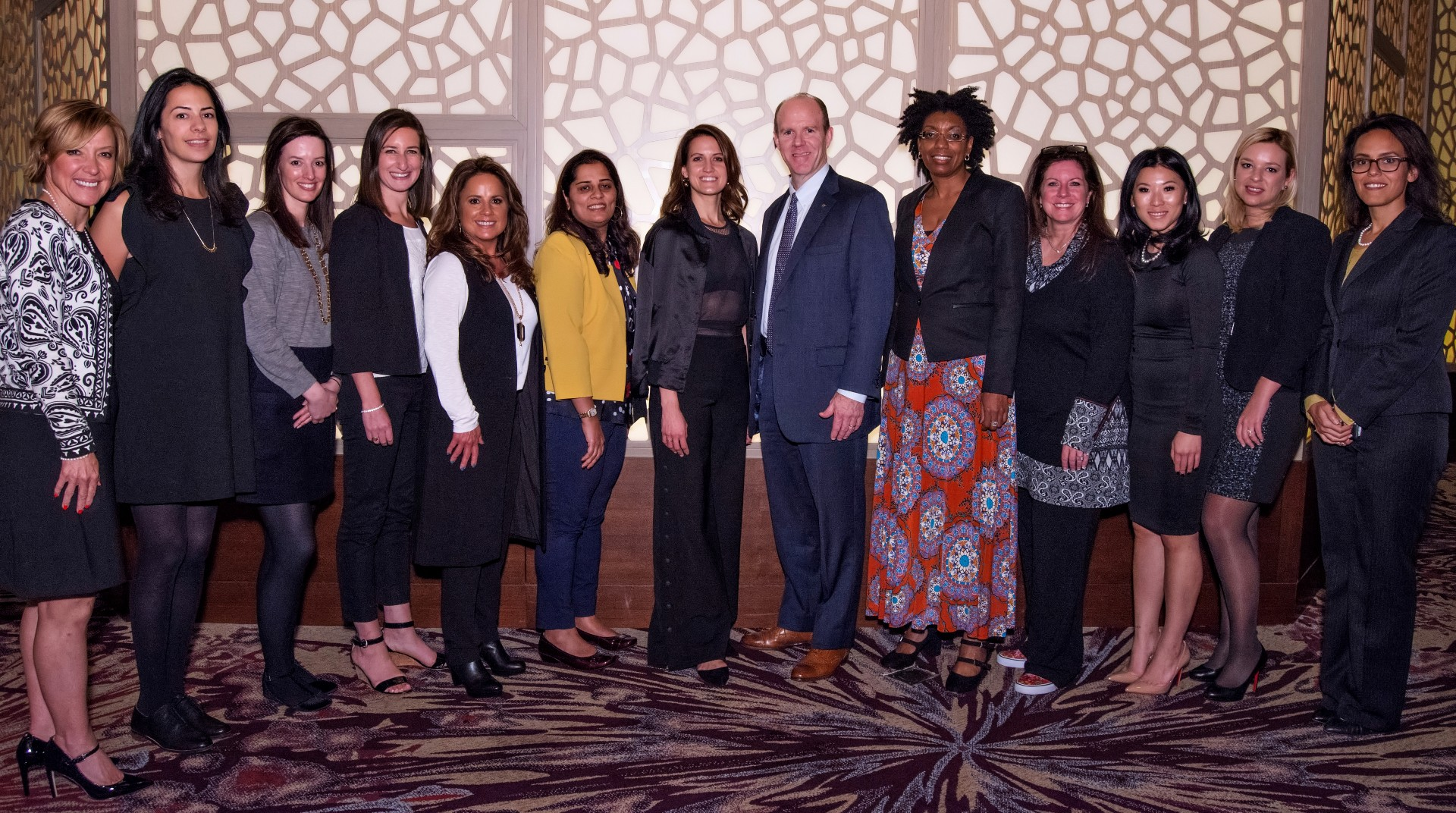 Some members of the 2016 class of EY's Entrepreneurial Winning Women program with U.S. Chairman Steve Howe.