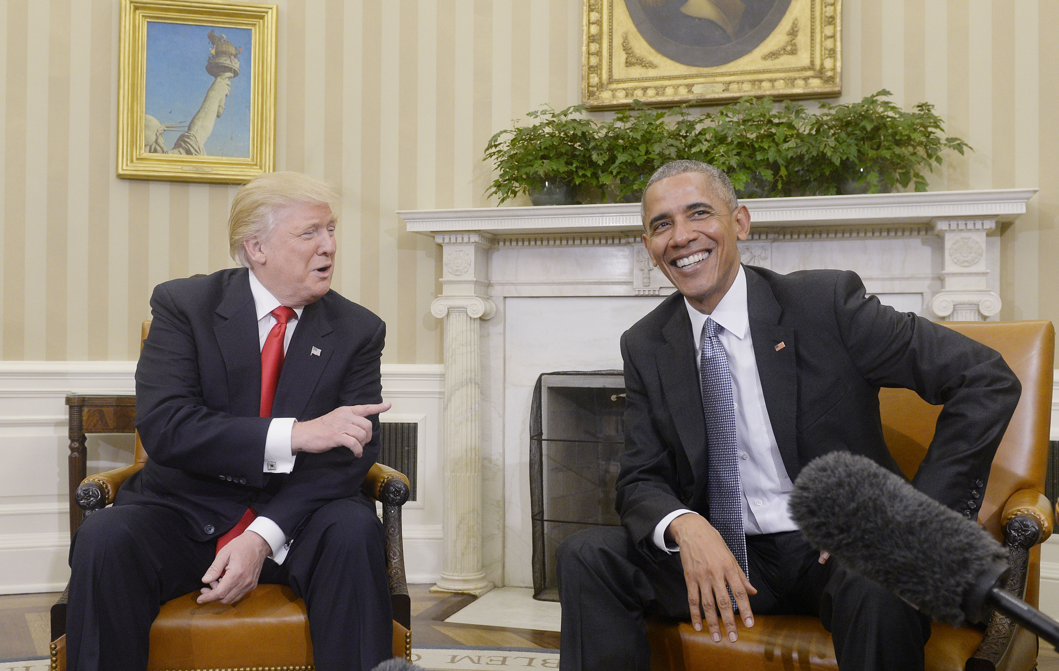 U.S. President Barack Obama meets with President-elect Donald Trump at the White House - DC